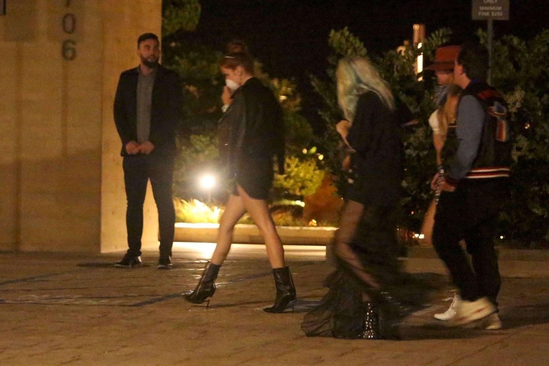 Bella & Dani Thorne – Sexy Legs In Mini Skirts At Nobu In Malibu 0015