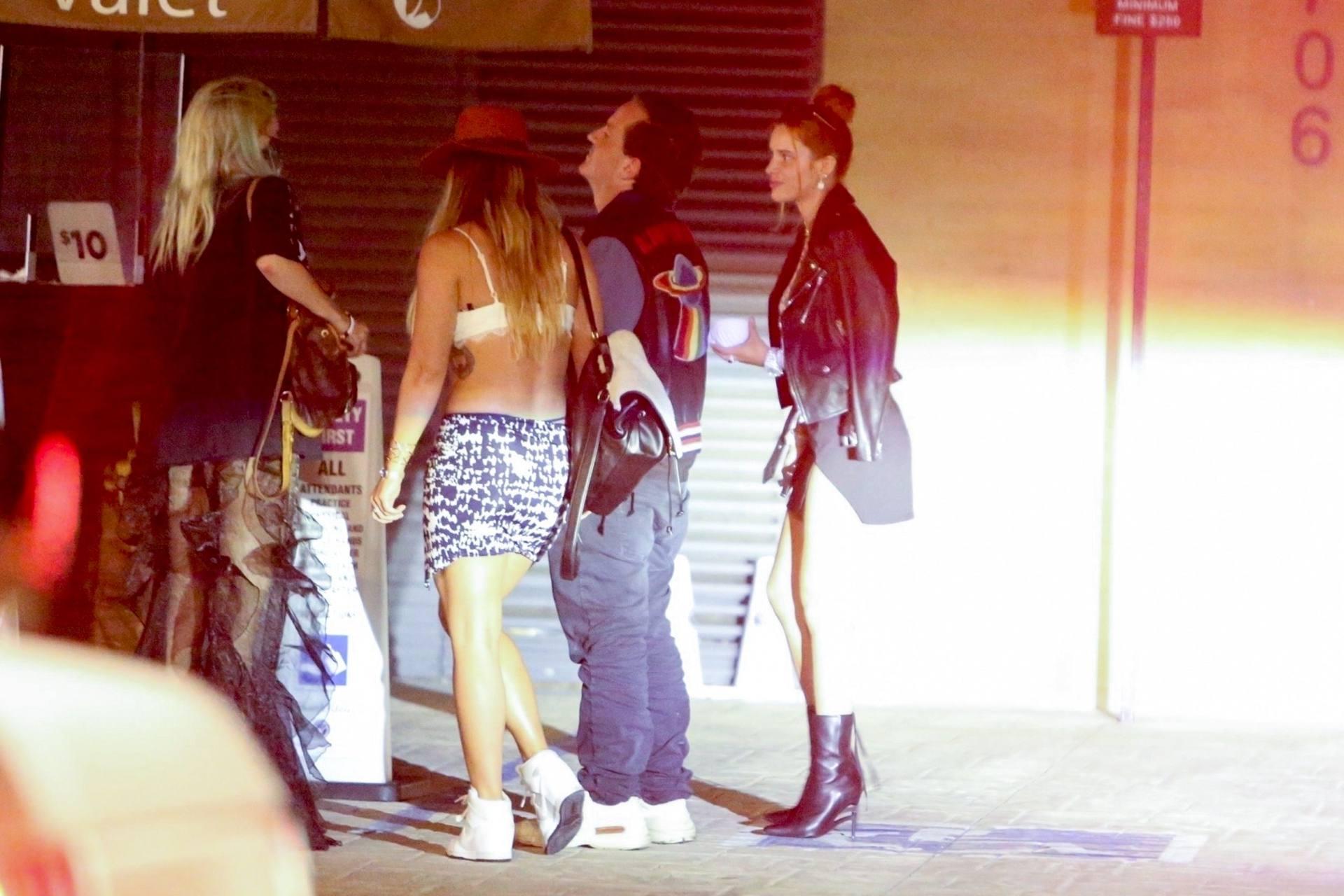Bella & Dani Thorne – Sexy Legs In Mini Skirts At Nobu In Malibu 0019