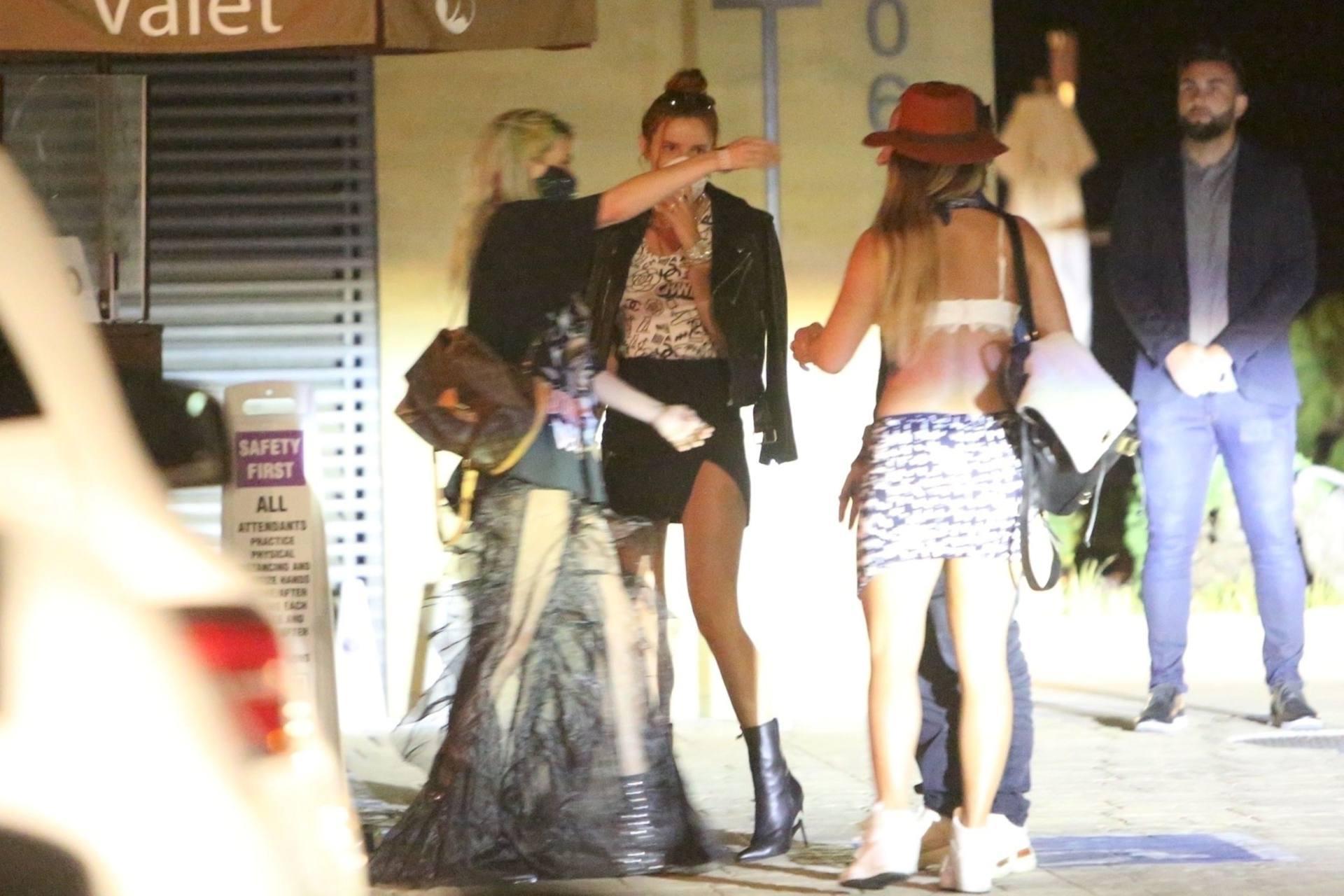 Bella & Dani Thorne – Sexy Legs In Mini Skirts At Nobu In Malibu 0021