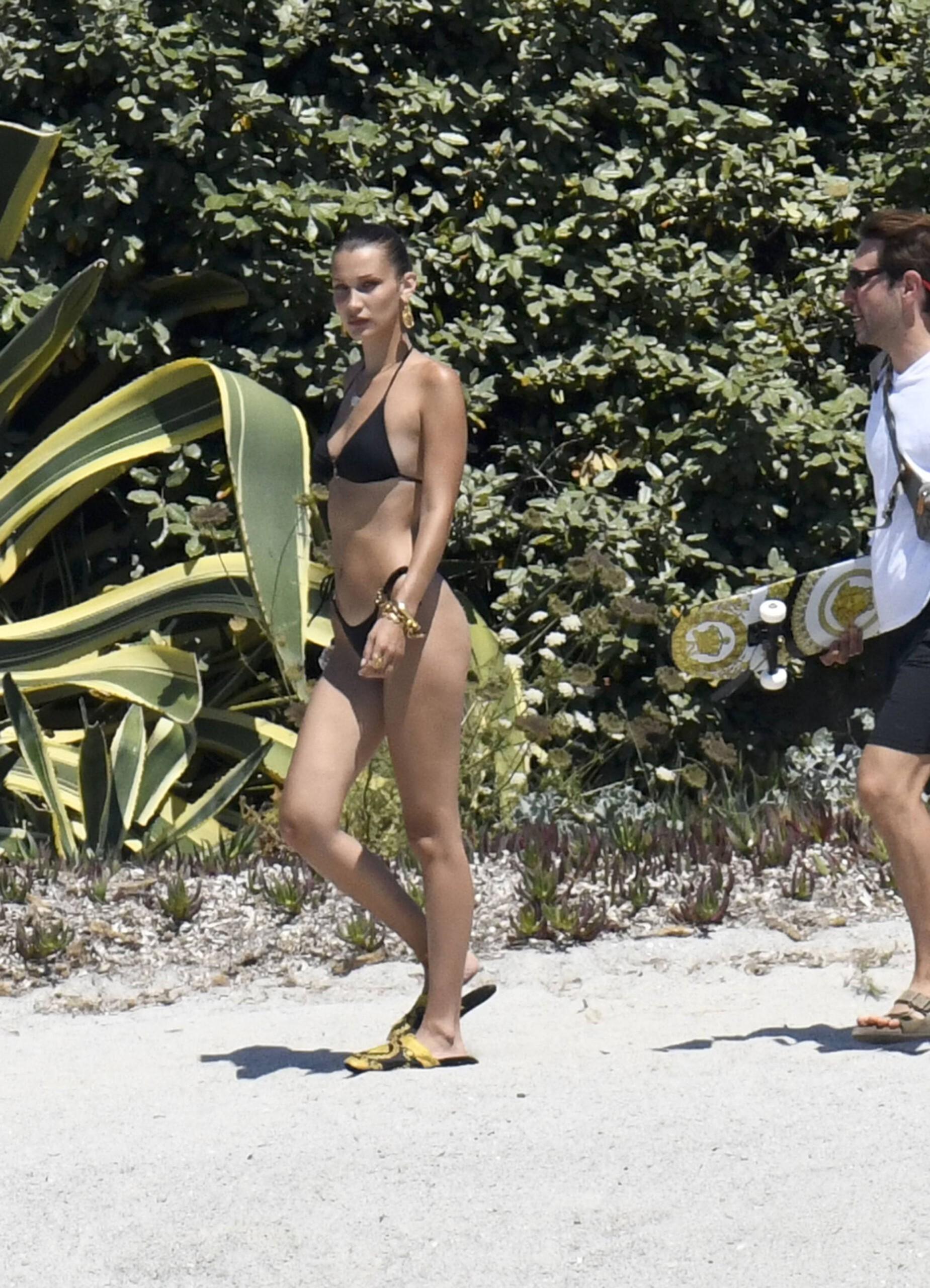 Bella Hadid – Sexy Ass In Bikini On The Photoshoot Set In Corsica 0004