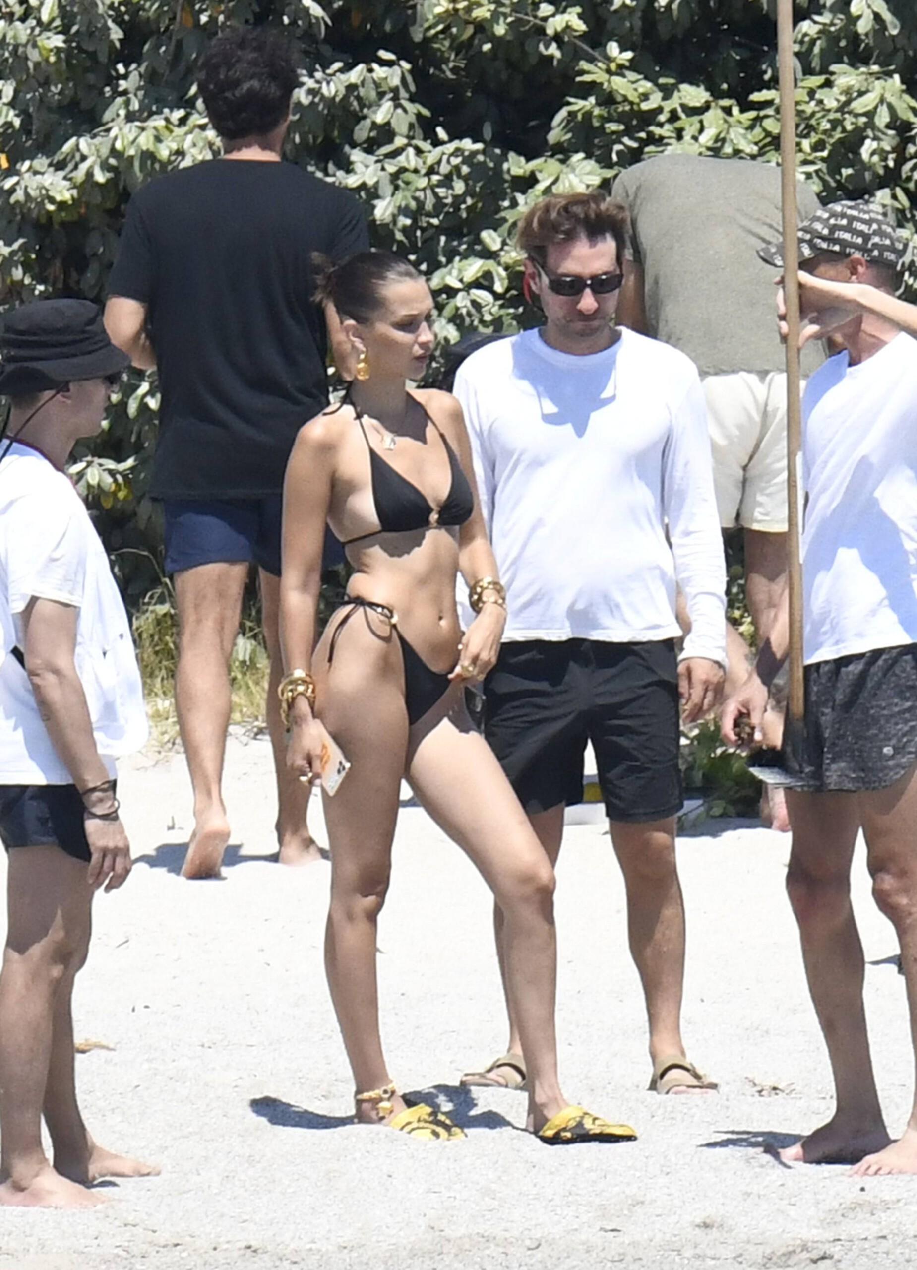 Bella Hadid – Sexy Ass In Bikini On The Photoshoot Set In Corsica 0006