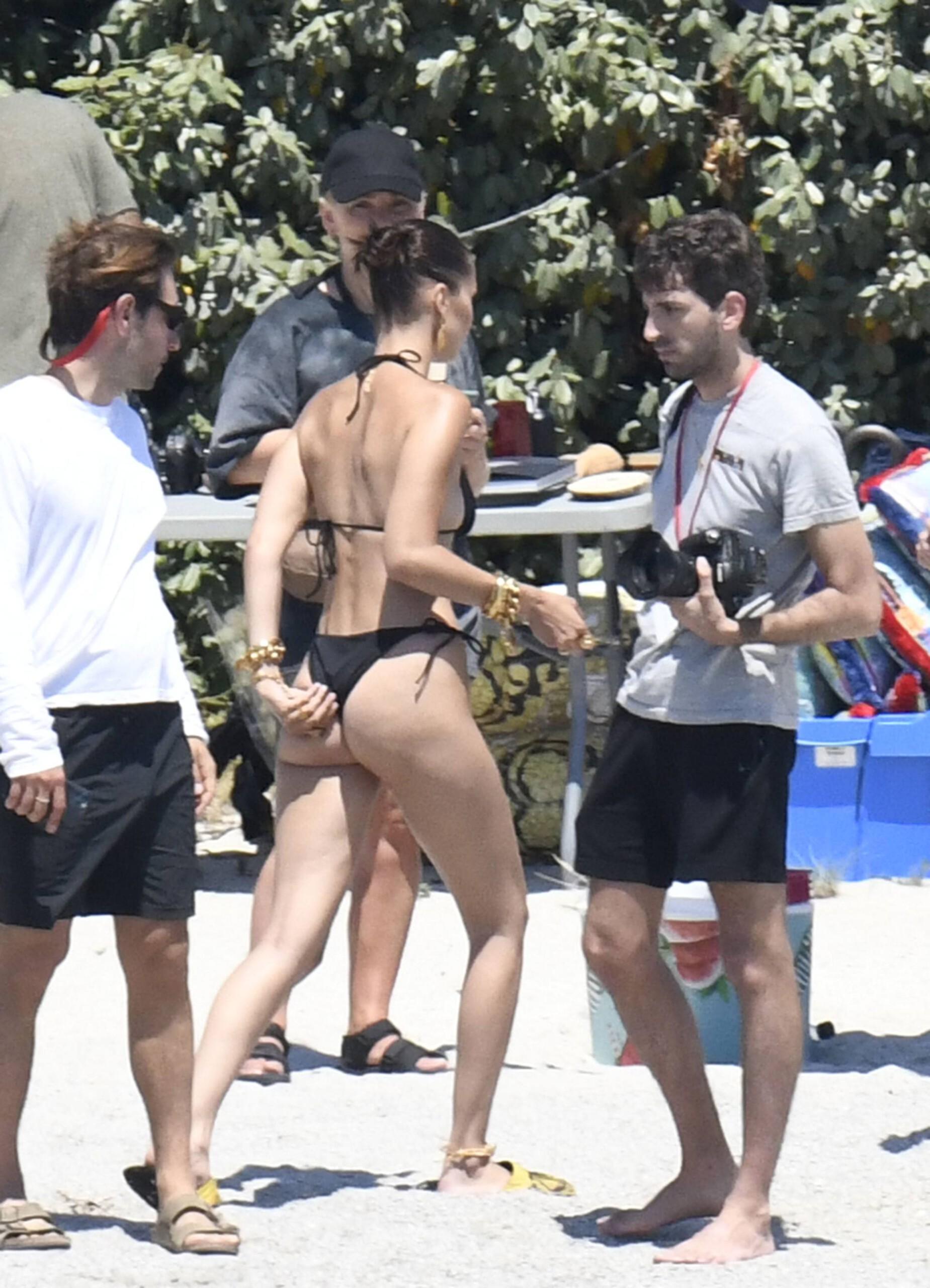 Bella Hadid – Sexy Ass In Bikini On The Photoshoot Set In Corsica 0007