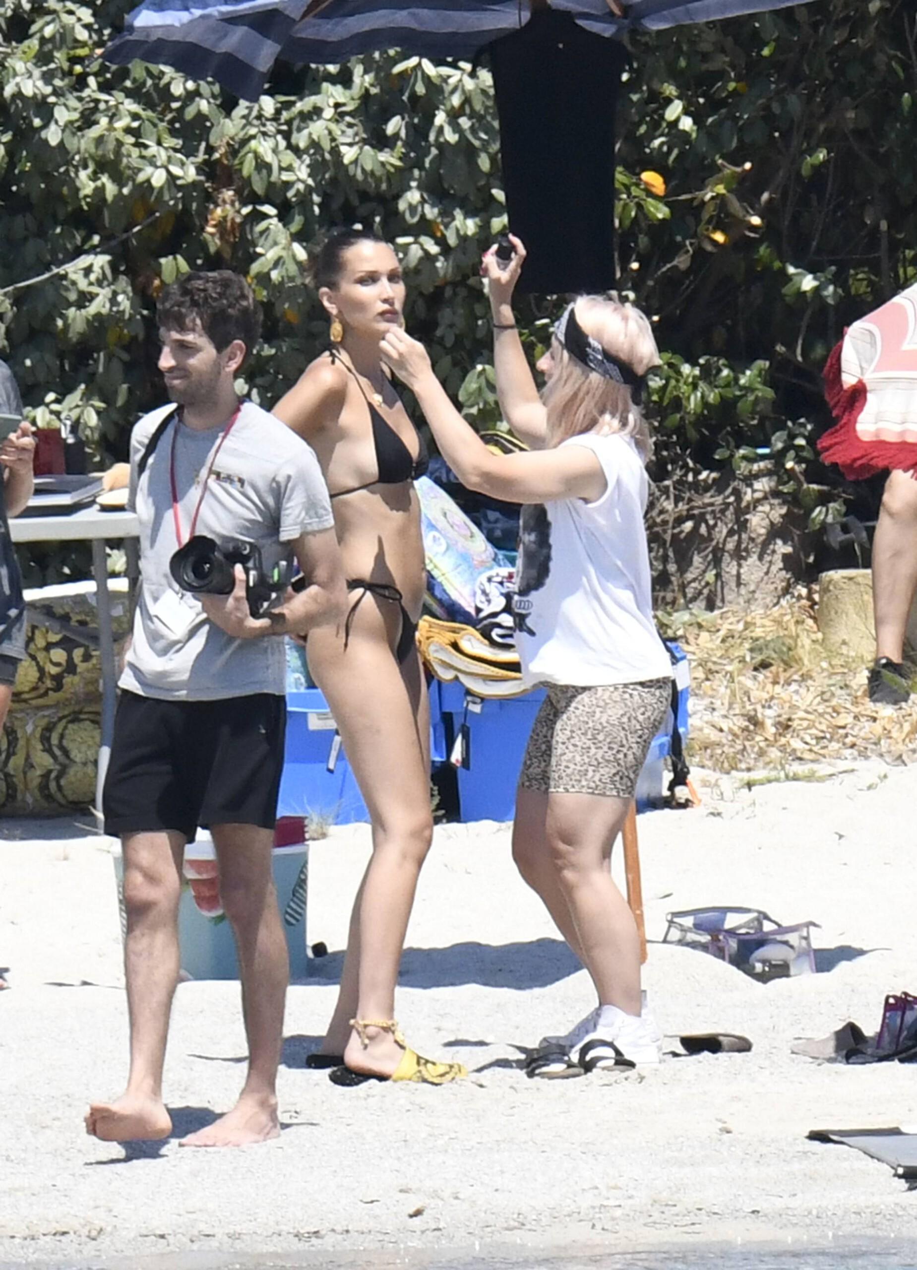 Bella Hadid – Sexy Ass In Bikini On The Photoshoot Set In Corsica 0008