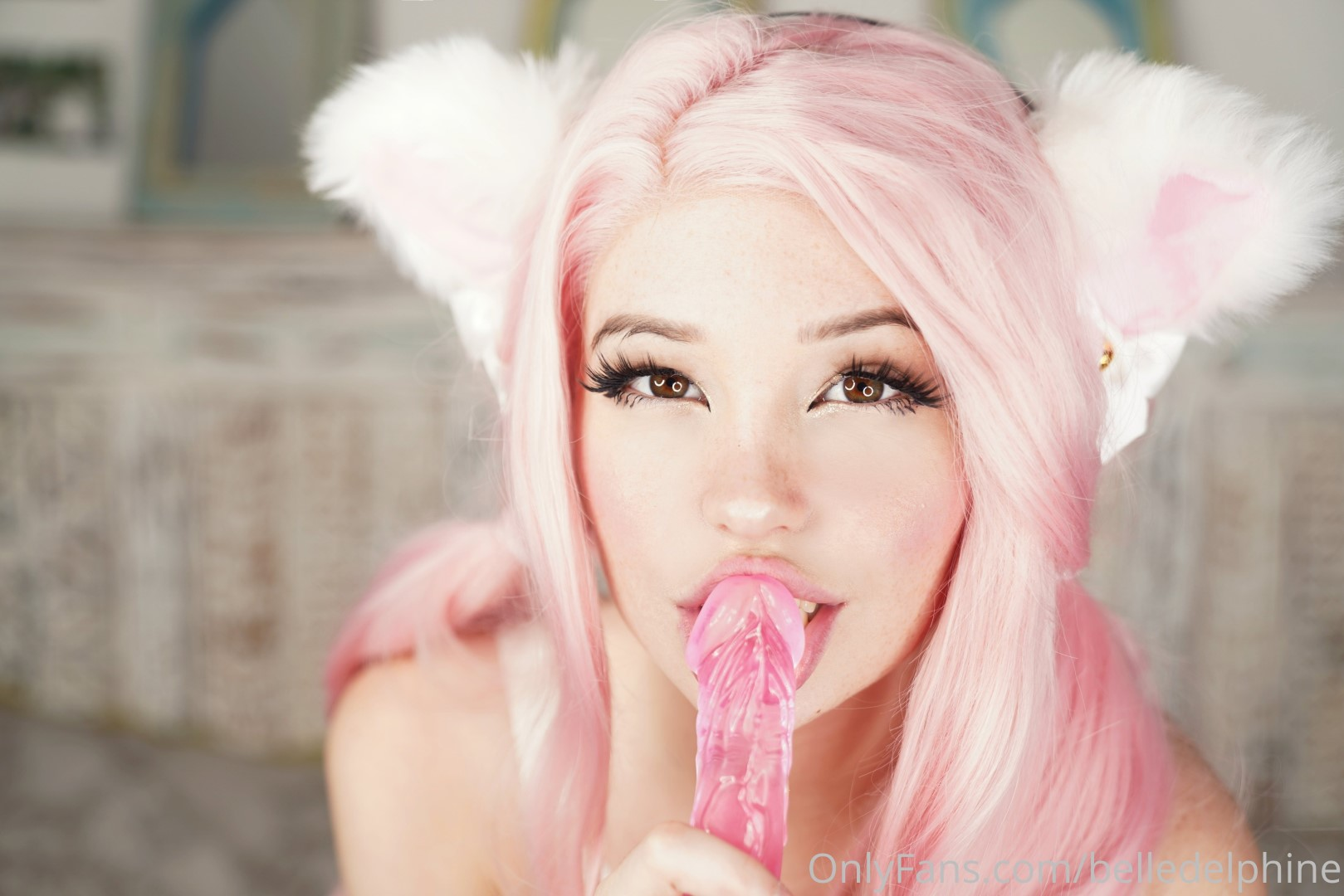 Belle Delphine Onlyfans Pink Dildo New Leaked Photos 0069