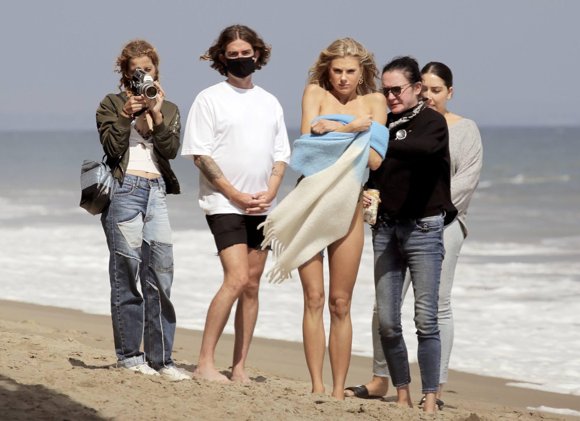 Charlotte Mckinney – Sexy Boobs In Tiny Bikini On The Beach In Los Angeles 0003