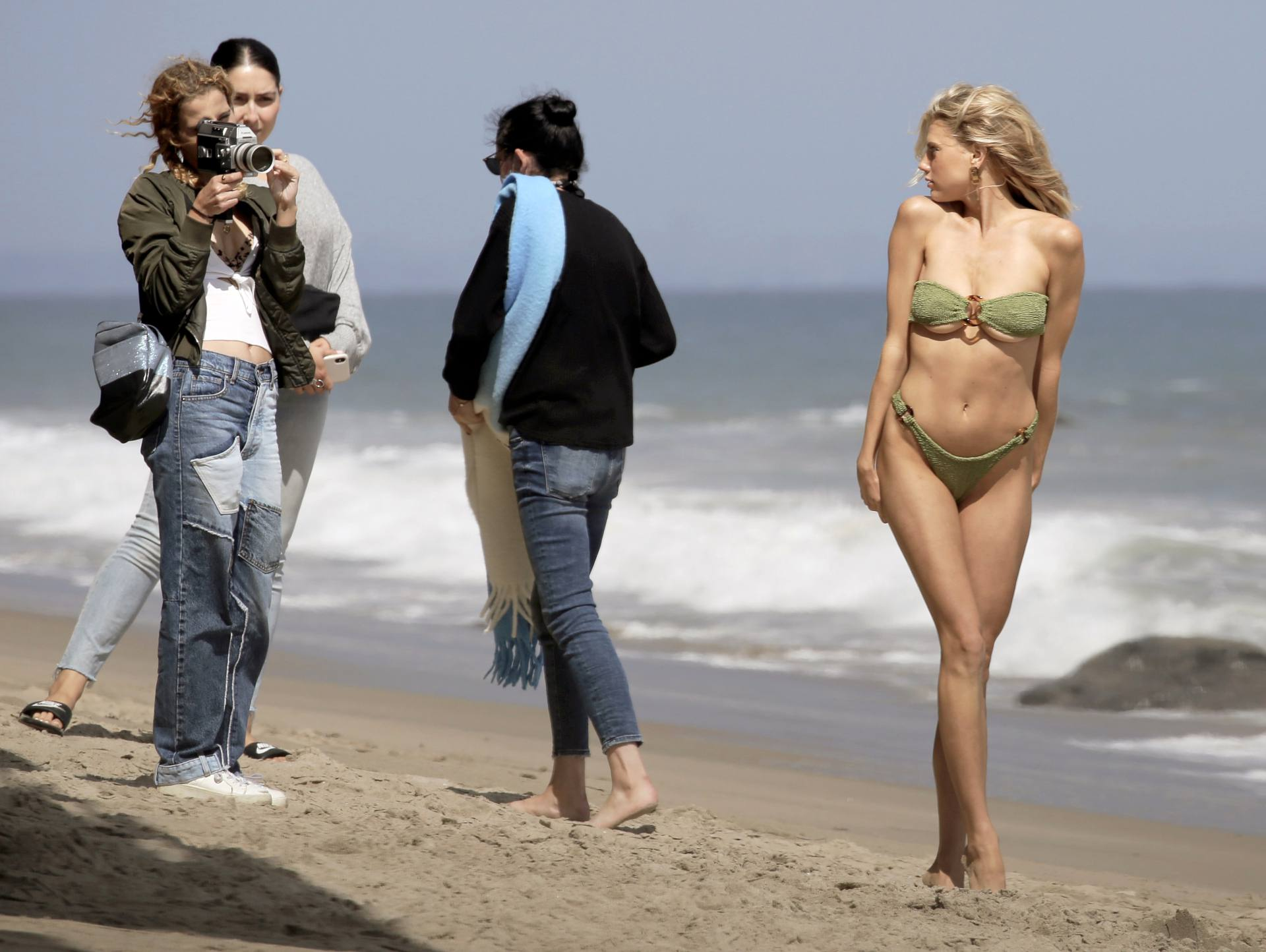 Charlotte Mckinney – Sexy Boobs In Tiny Bikini On The Beach In Los Angeles 0006