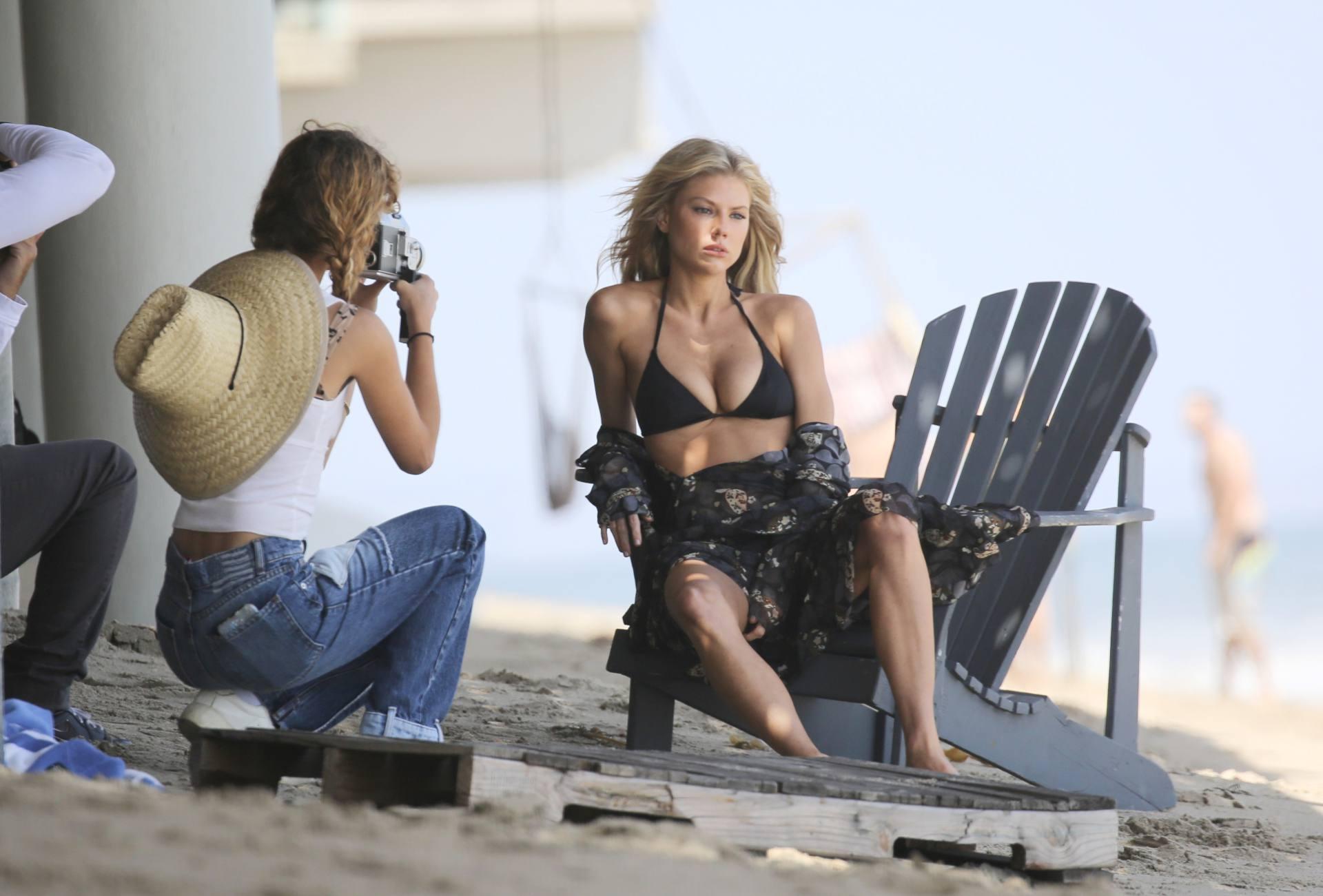 Charlotte Mckinney – Sexy Boobs In Tiny Bikini On The Beach In Los Angeles 0009