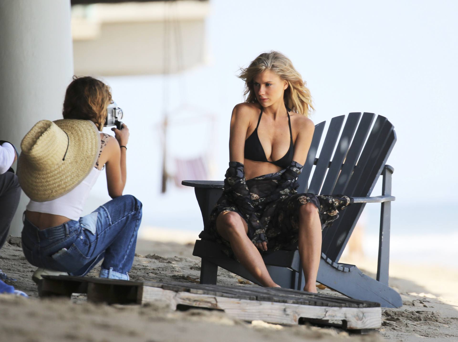 Charlotte Mckinney – Sexy Boobs In Tiny Bikini On The Beach In Los Angeles 0010