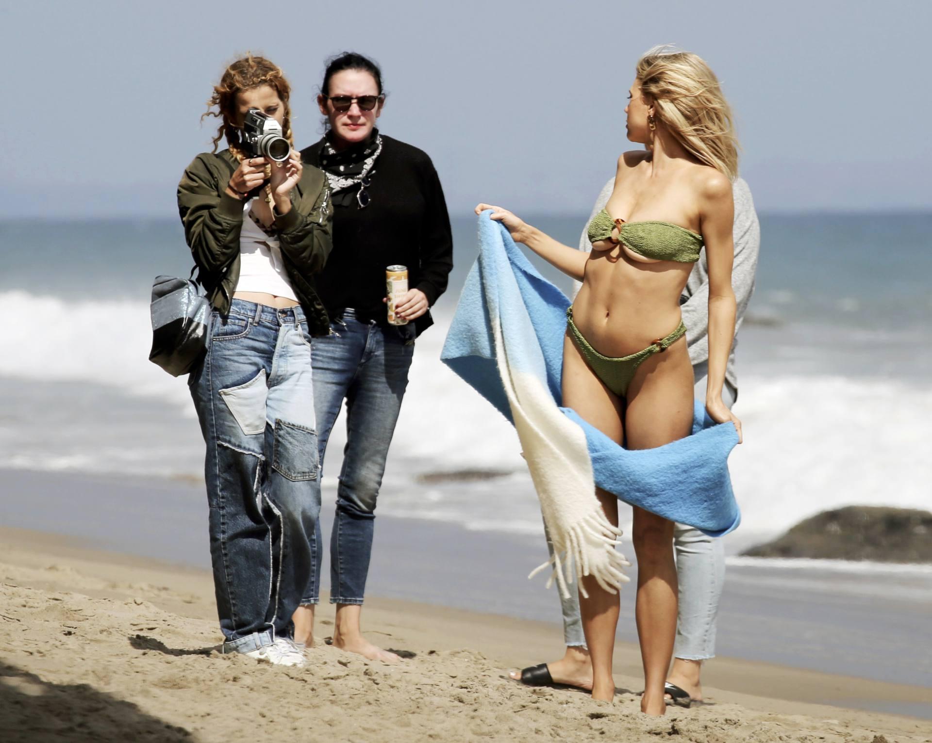 Charlotte Mckinney – Sexy Boobs In Tiny Bikini On The Beach In Los Angeles 0013