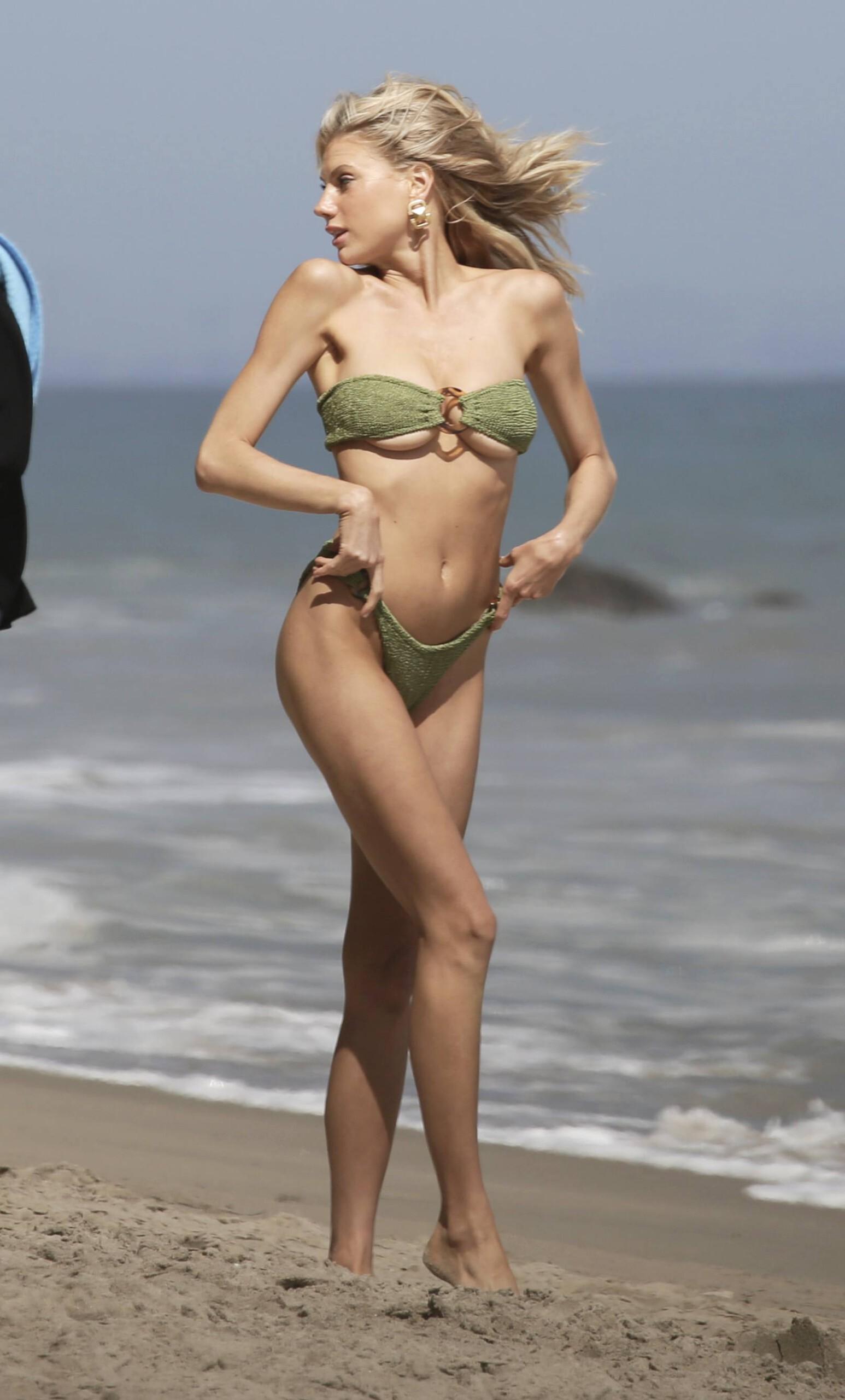 Charlotte Mckinney – Sexy Boobs In Tiny Bikini On The Beach In Los Angeles 0019