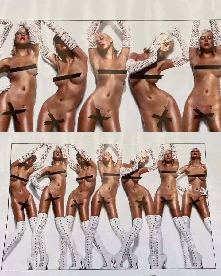 Christina Aguilera – Sexy Boobs In Naked Photoshoot Outtakes From Bionic Album Photoshoot 0010