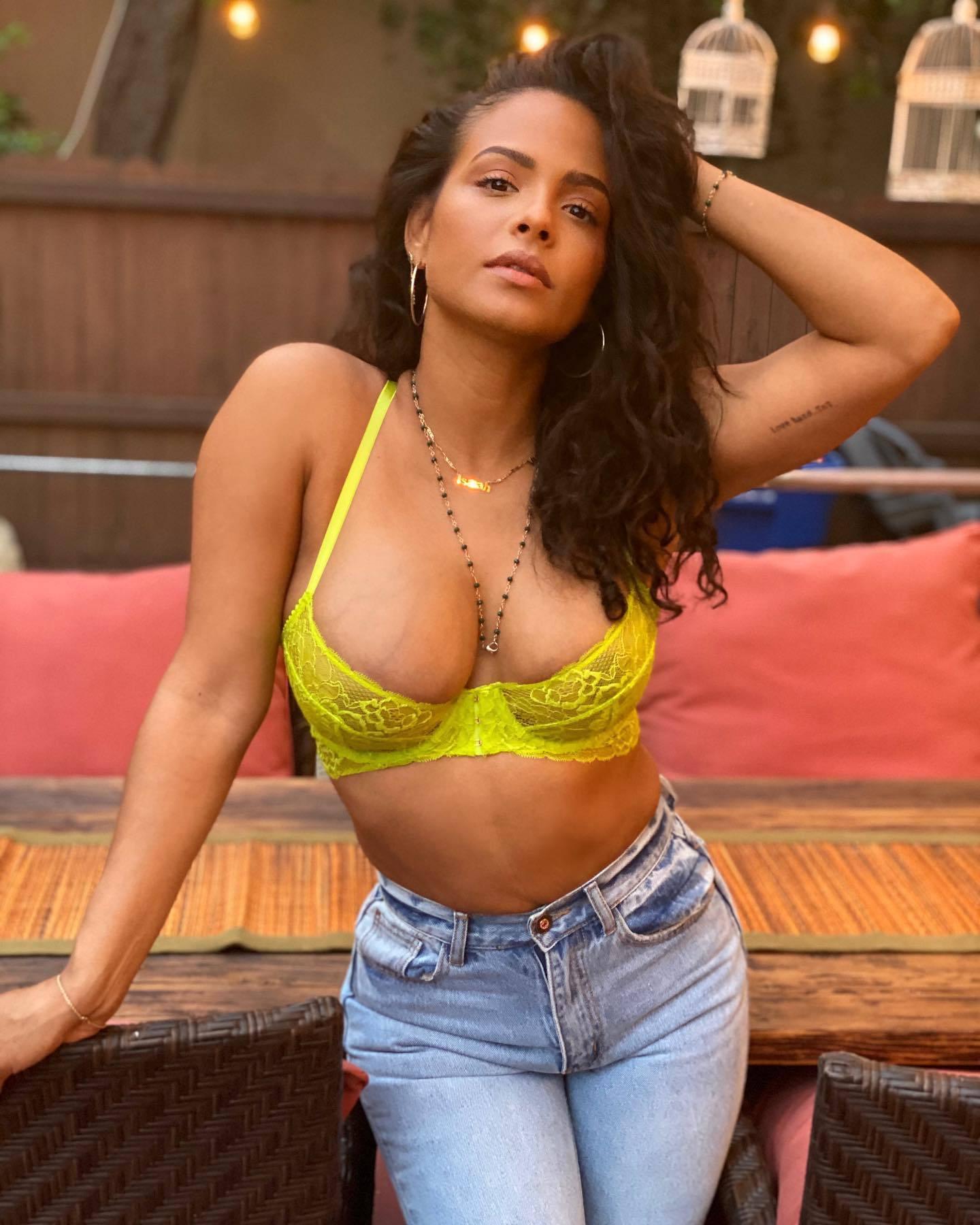 Christina Milian – Beautiful Big Boobs In Sexy Savage X Fenty Bra Photoshoot 0005