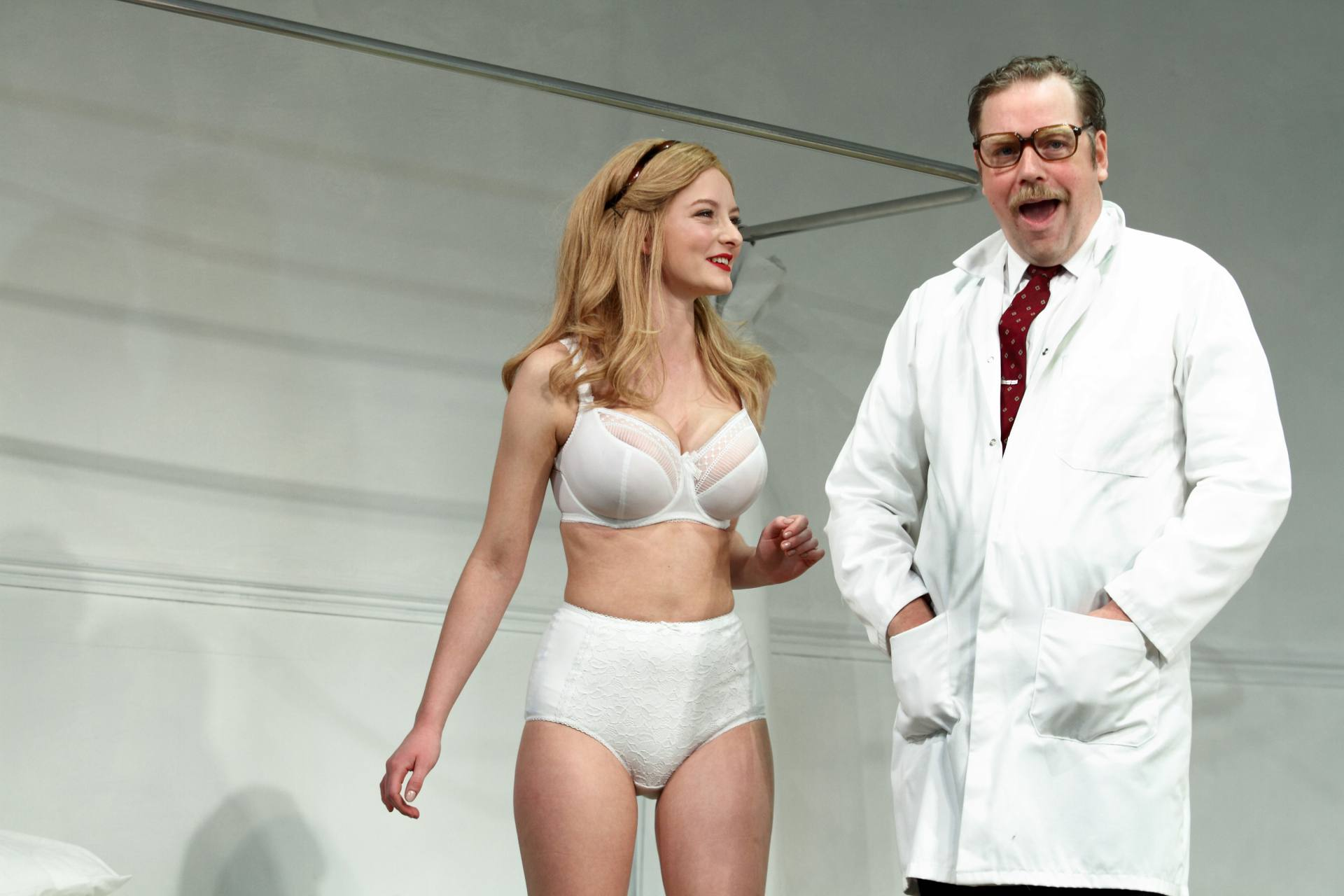 """Dakota Blue Richards – Hot Boobs In Underwear In """"what The Butler Saw"""" Play In Leicester 0003"""
