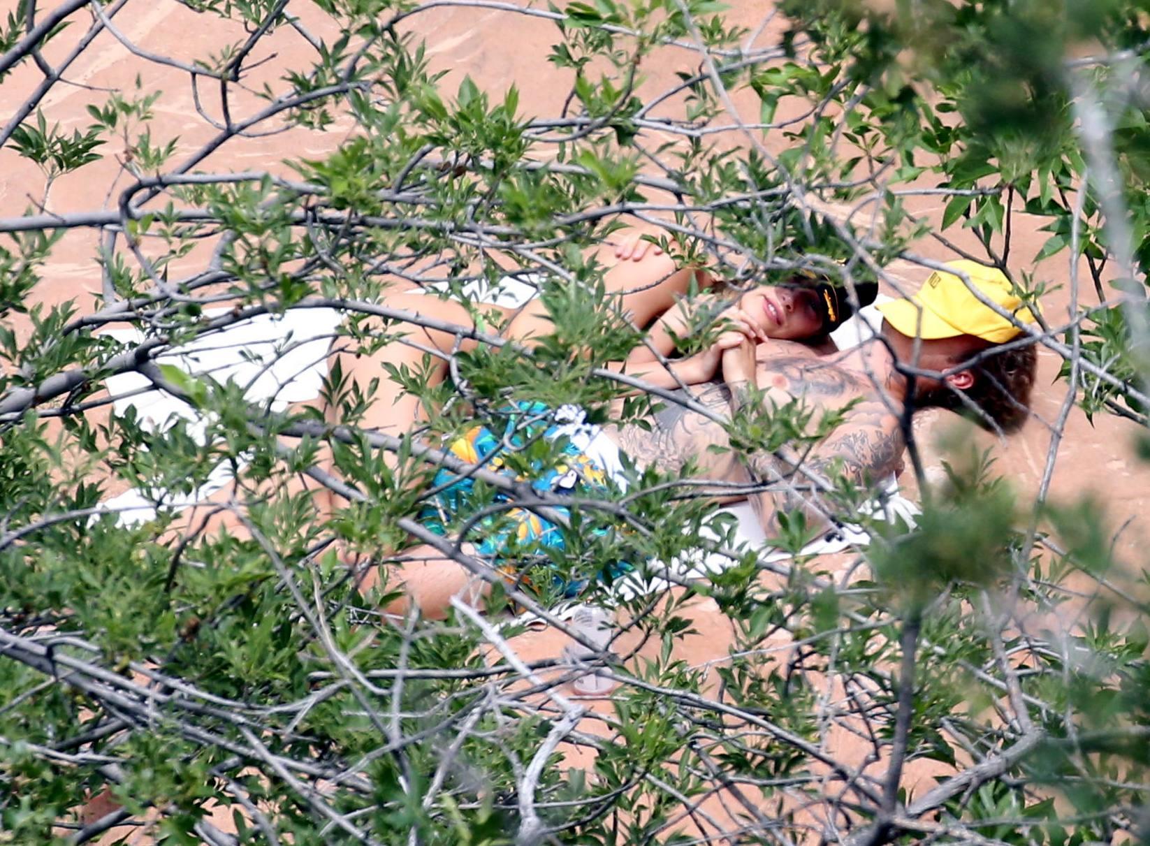 Hailey Bieber – Sexy Body In Green Bikini In Utah 0016