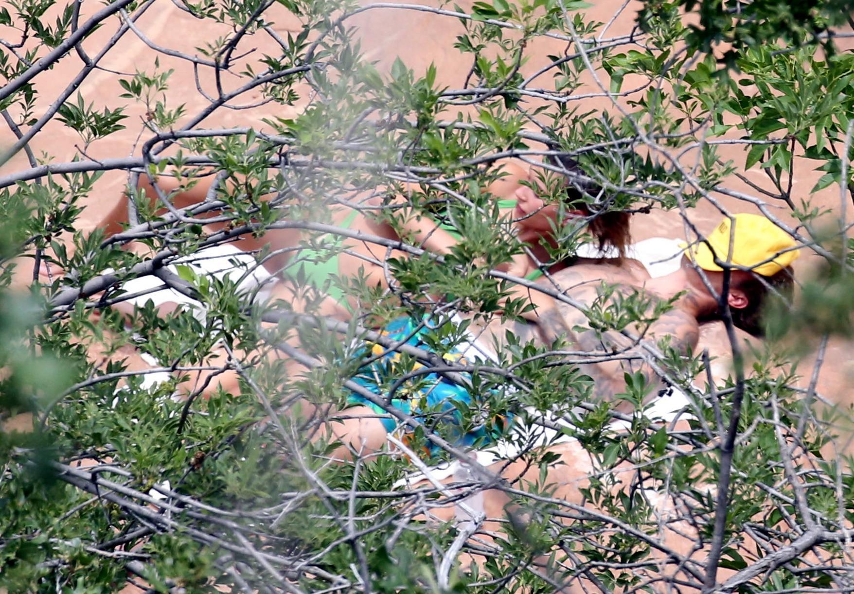 Hailey Bieber – Sexy Body In Green Bikini In Utah 0017