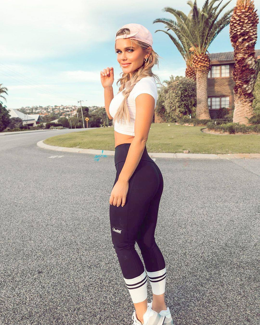 Hilde Osland Hot Ass In Tight Black Leggings 0002