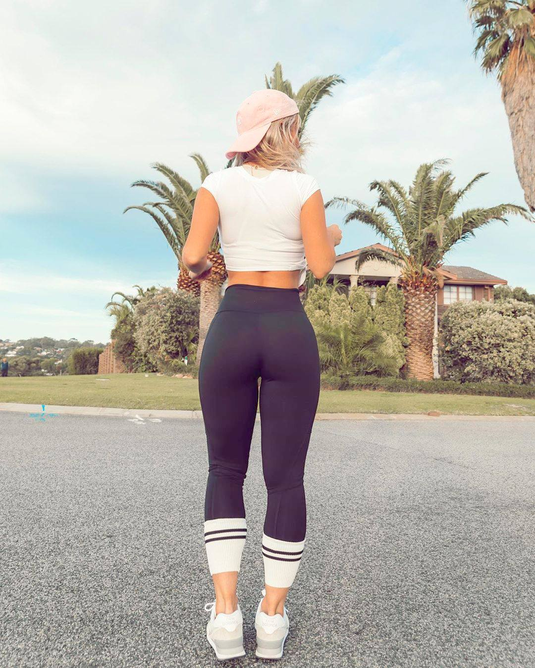 Hilde Osland Hot Ass In Tight Black Leggings 0004
