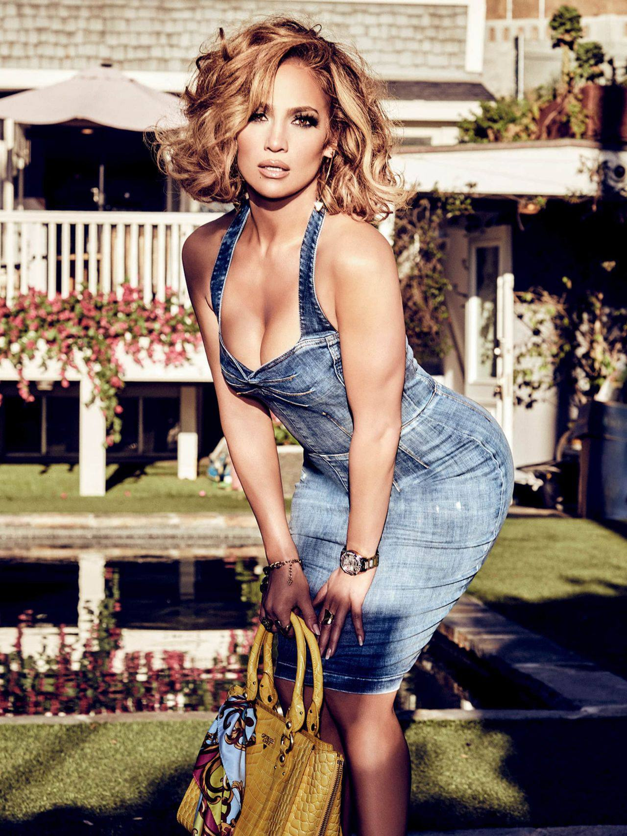 Jennifer Lopez – Sexy Boobs And Legs In Beautiful Photoshoot For Guess Spring Summer 2020 Campaign 0003