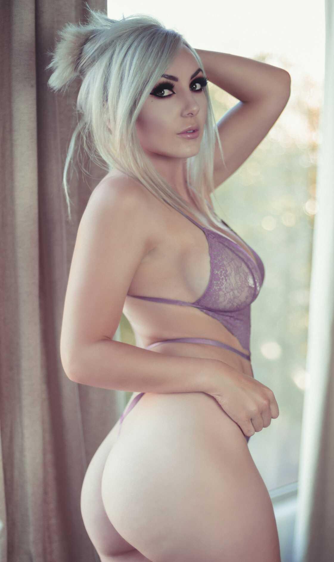 Jessica Nigri, Onlyfans Lavender Lingerie 0058