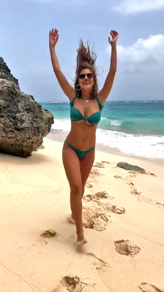 Kara Del Toro – Hot Body In Small Bikini On The Beach (tiktok Video) 0003