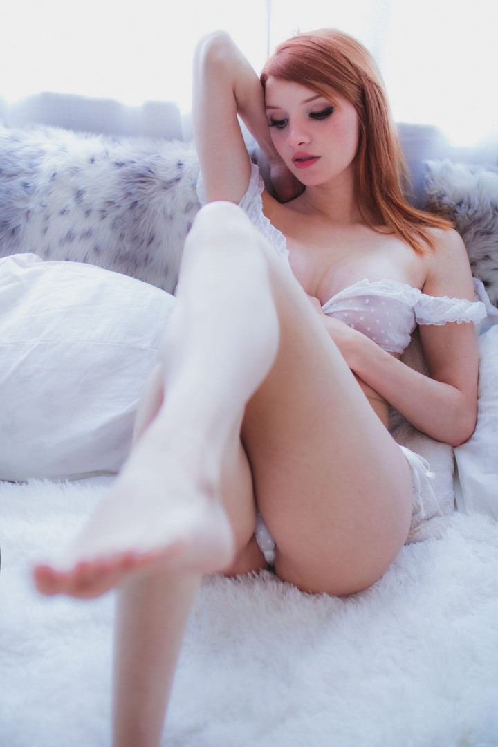 Madison Kate Patreon White Lingerie0049