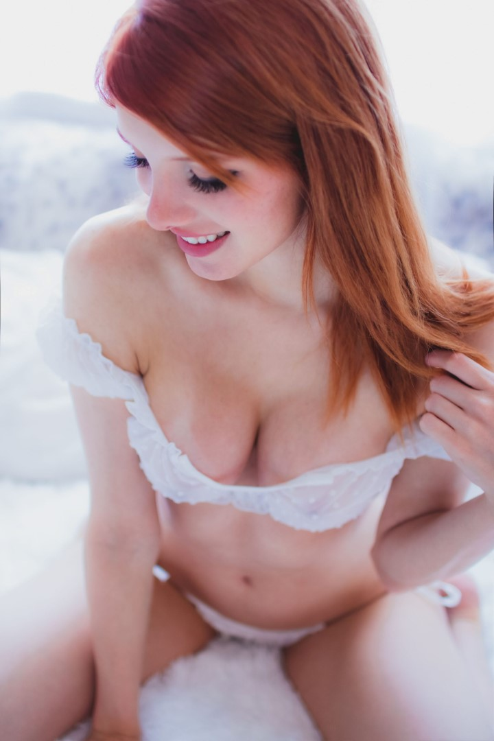 Madison Kate Patreon White Lingerie0051
