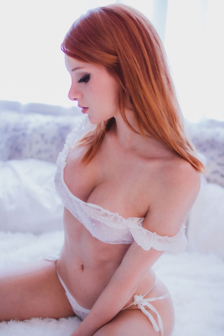 Madison Kate Patreon White Lingerie0058
