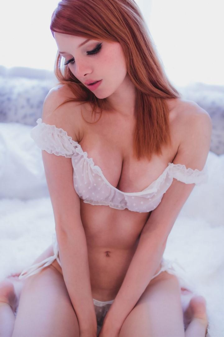 Madison Kate Patreon White Lingerie0059