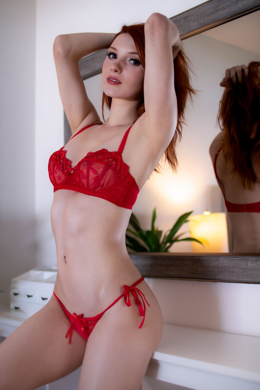 Madison Kate Red Lingerie 0007