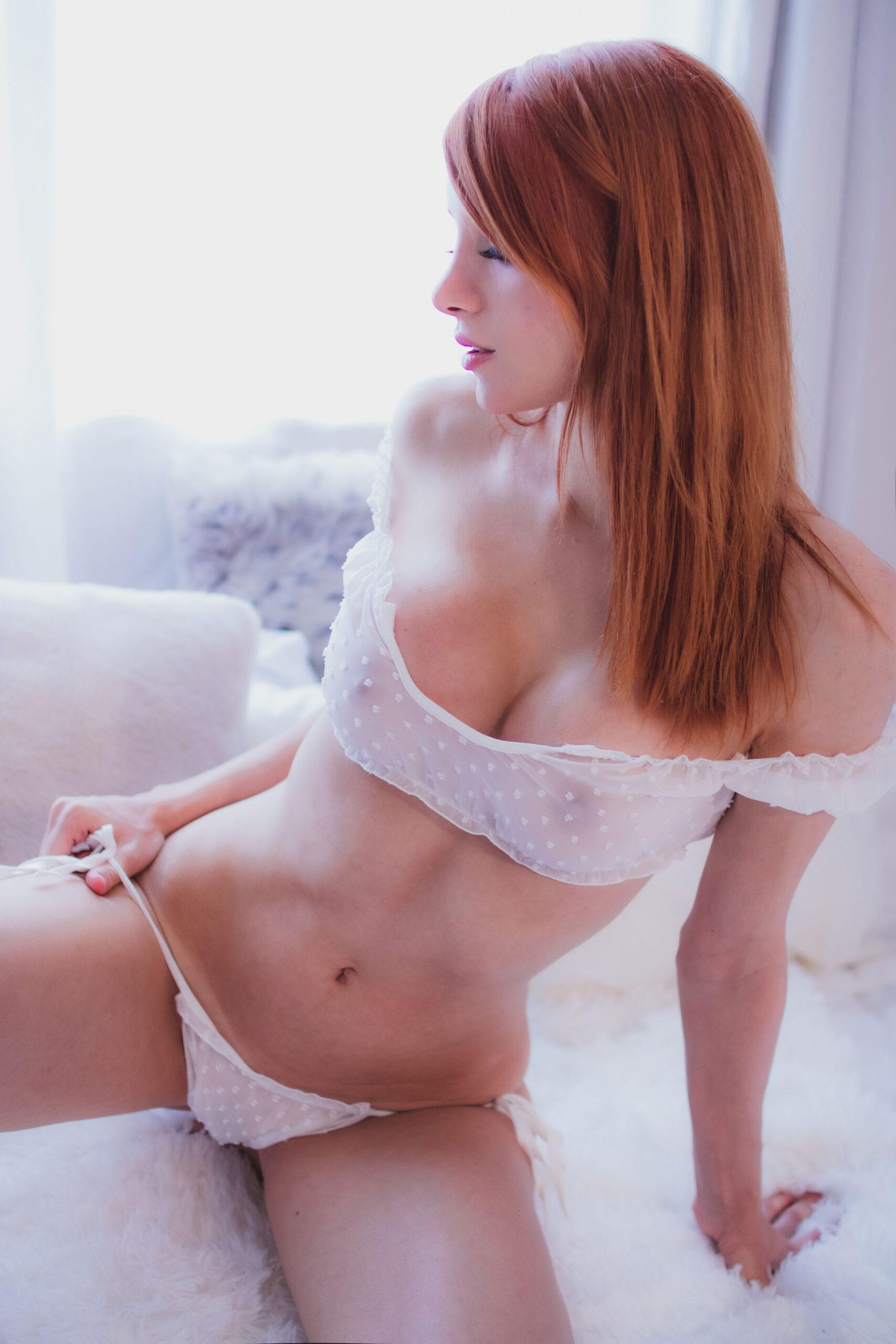Madison Kate White See Through Lingerie 0006