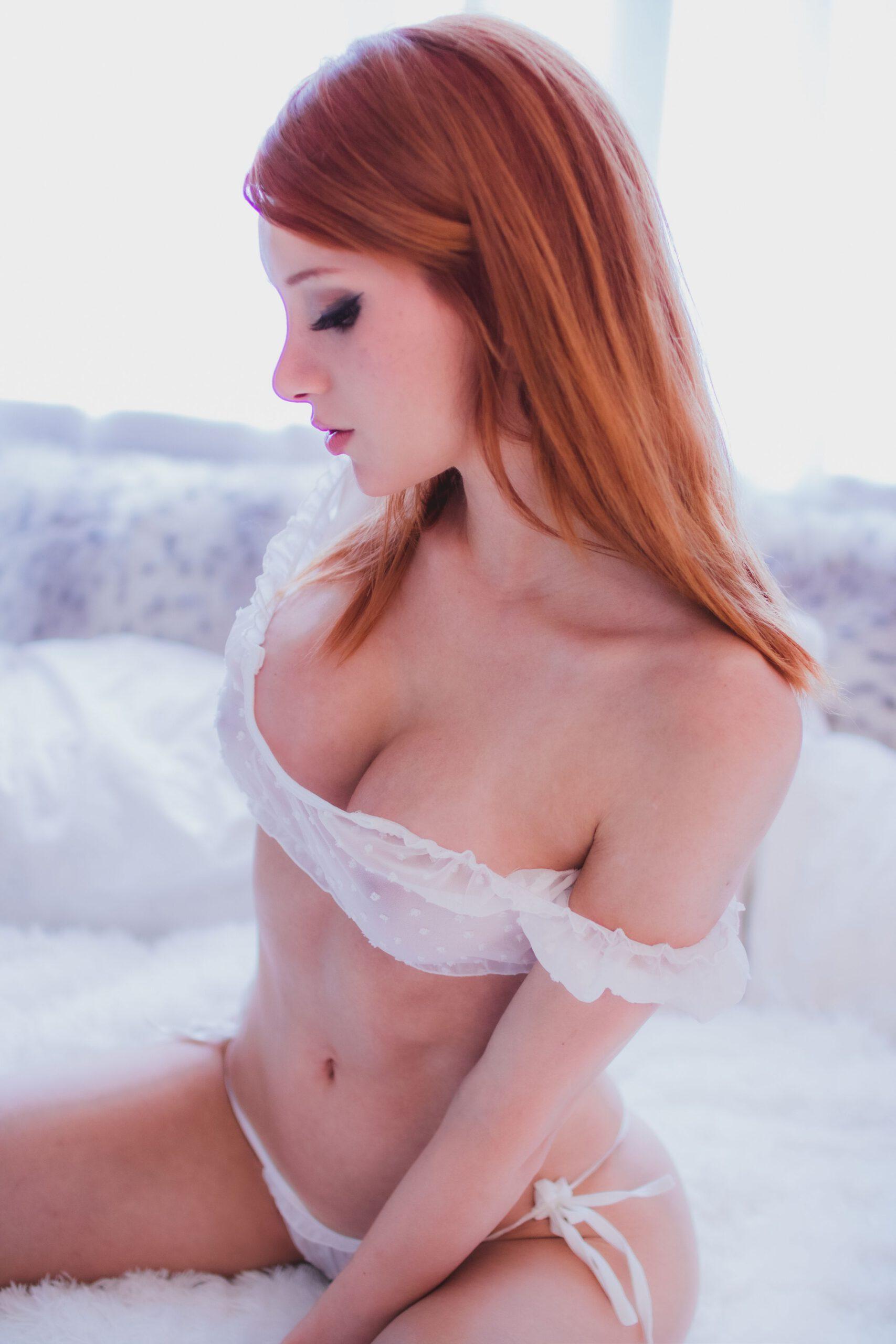 Madison Kate White See Through Lingerie 0013