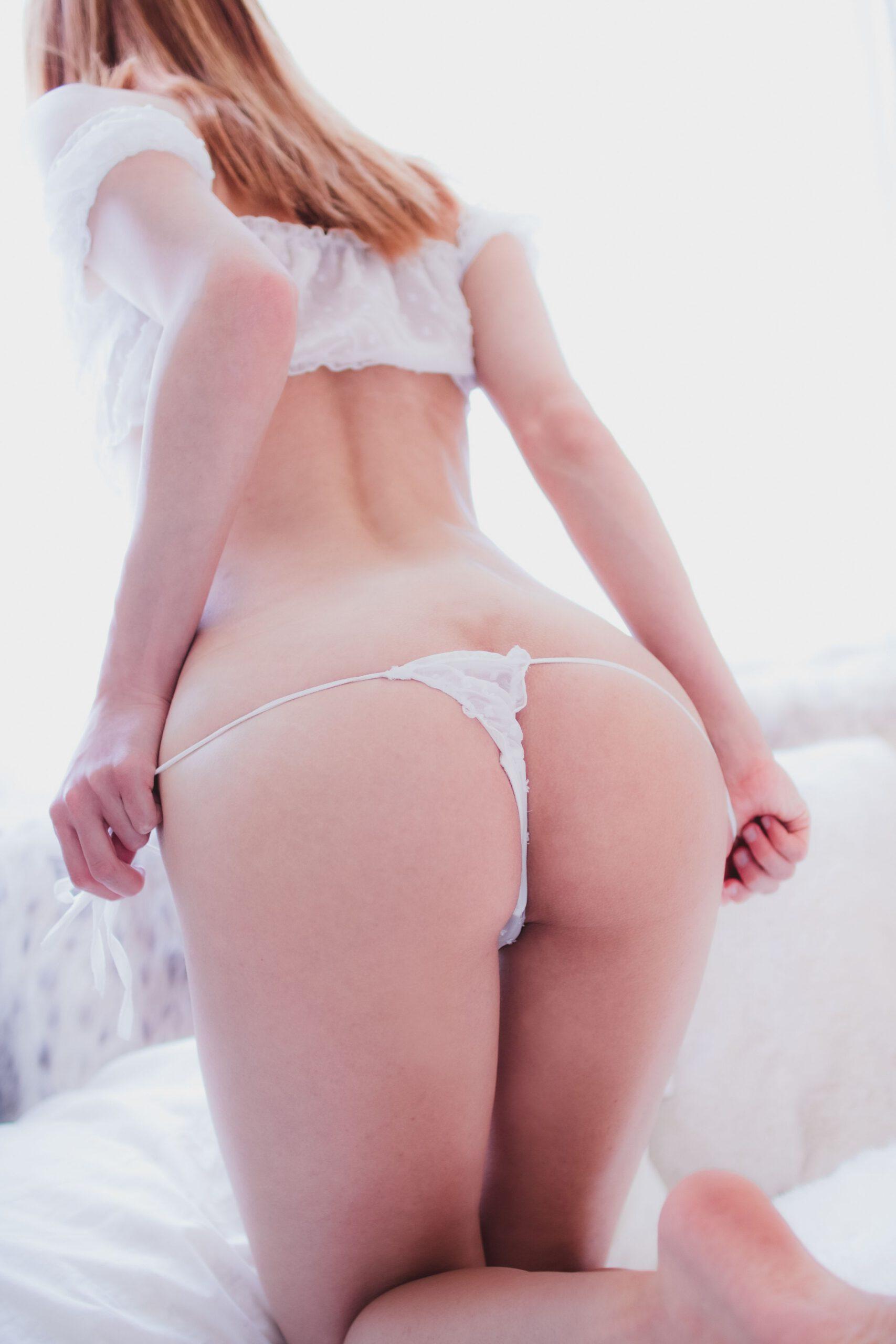 Madison Kate White See Through Lingerie 0020