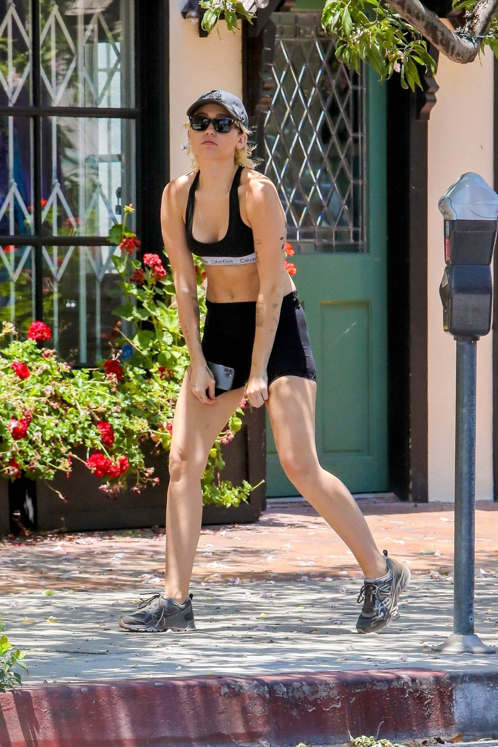 Miley Cyrus – Sexy Fit Body In Shorts And Sports Bra Out In Los Angeles 0002