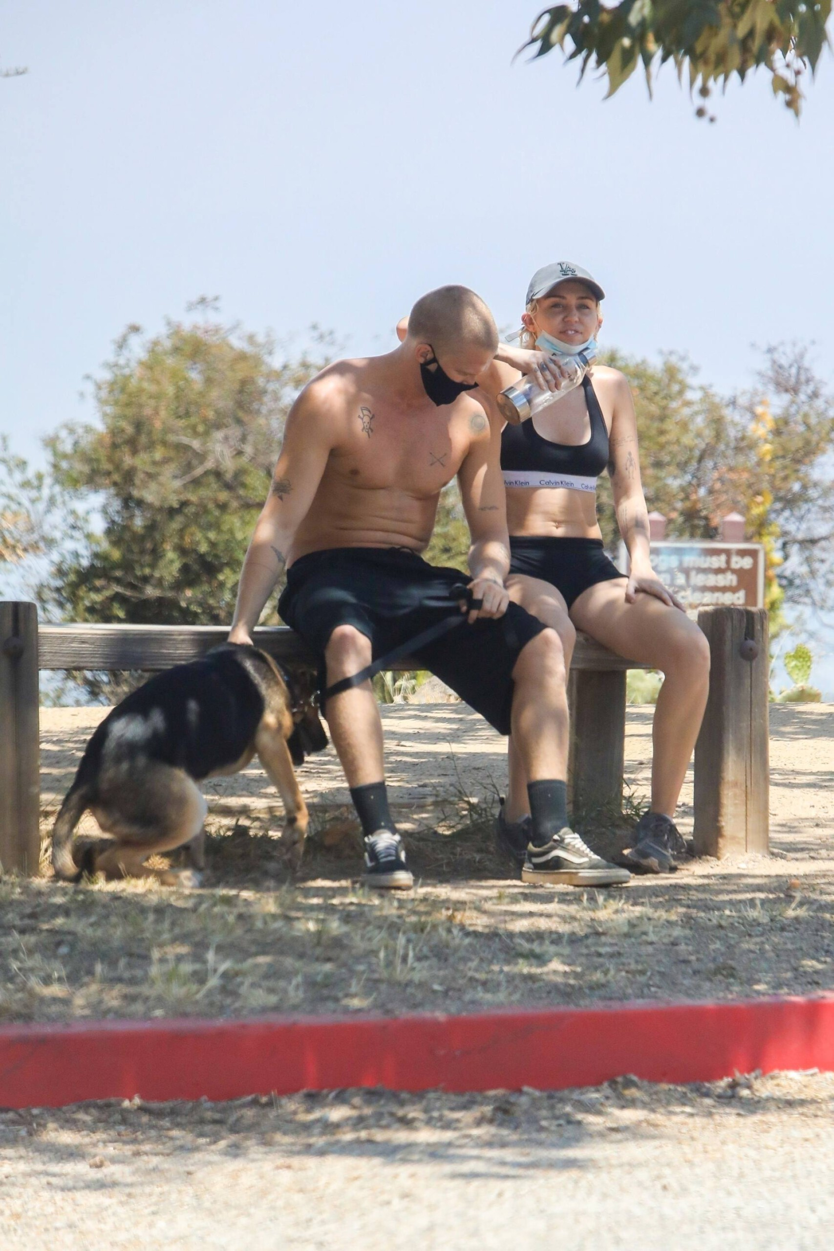 Miley Cyrus – Sexy Fit Body In Shorts And Sports Bra Out In Los Angeles 0011