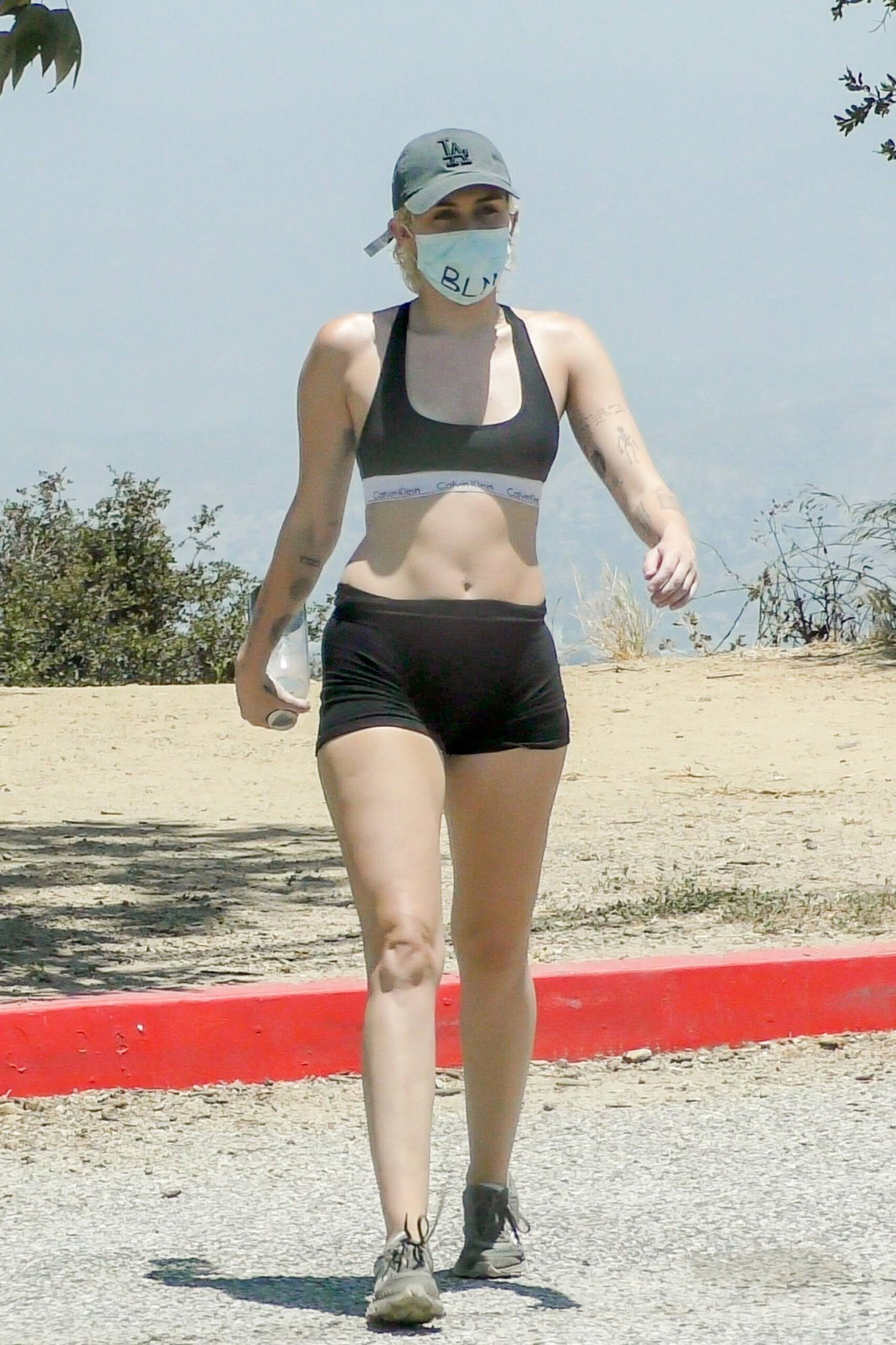 Miley Cyrus – Sexy Fit Body In Shorts And Sports Bra Out In Los Angeles 0016