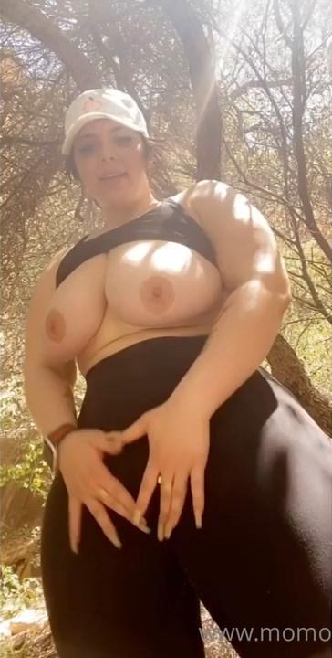 Momokun, Onlyfans Outdoor Exibitionism Spreading Ass Video 0034