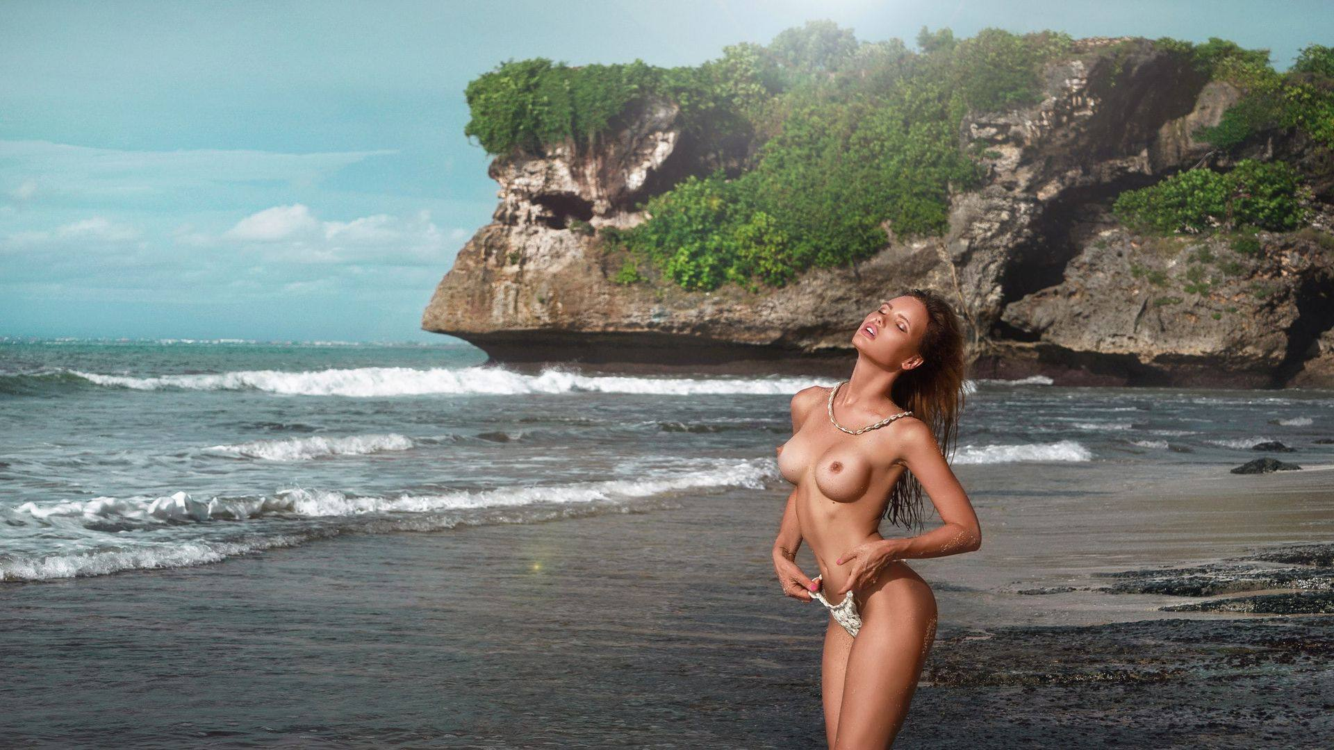 Olya Abramovich – Hot Boobs In Topless Beach Photoshoot (nsfw) 0002
