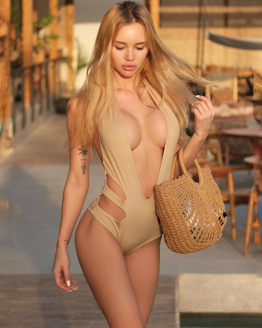 Olya Abramovich – Hot Boobs In Topless Beach Photoshoot (nsfw) 0034