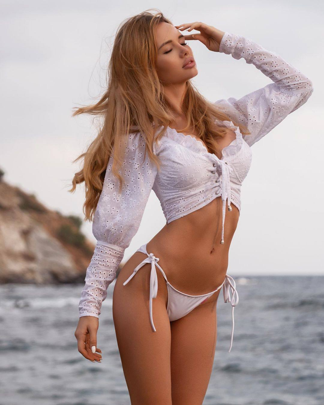 Olya Abramovich – Hot Boobs In Topless Beach Photoshoot (nsfw) 0047