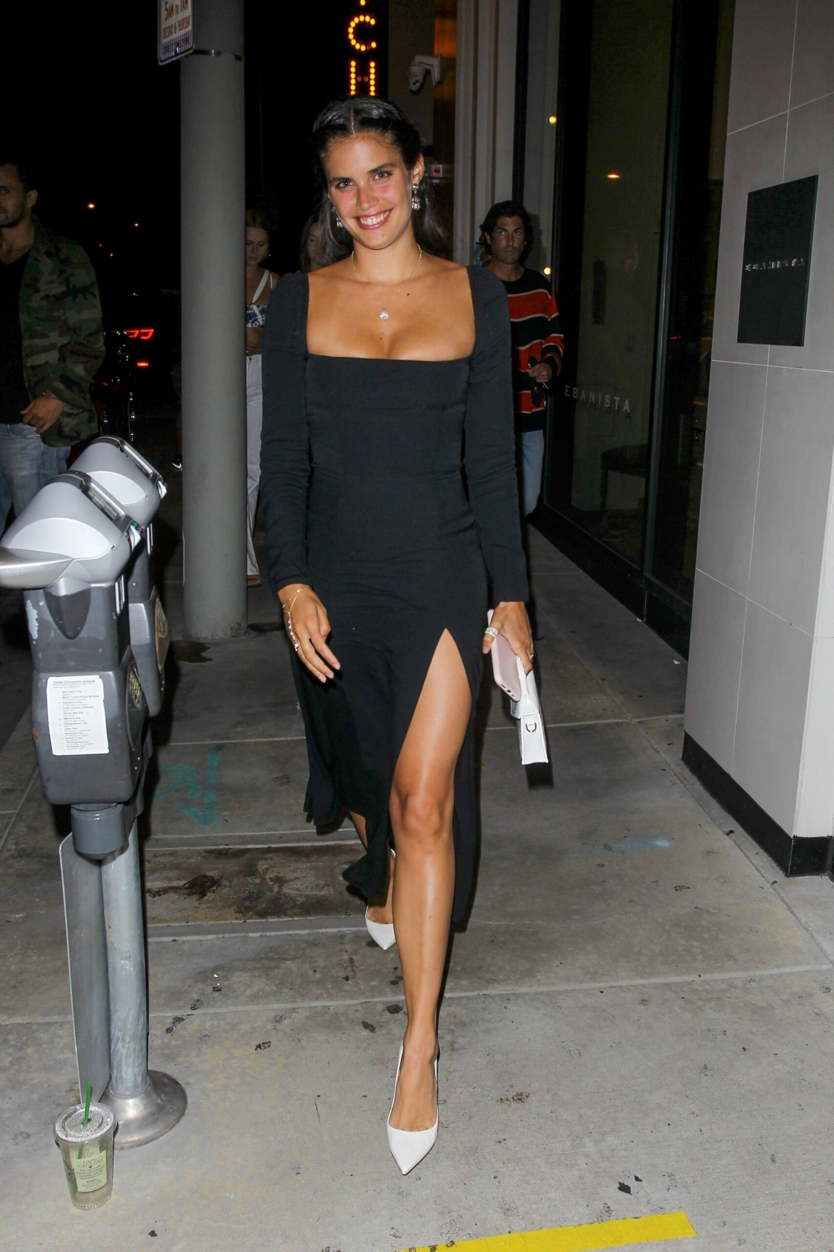 Sara Sampaio – Beautiful In Sexy Black Dress At Catch Restaurant In West Hollywood 0011