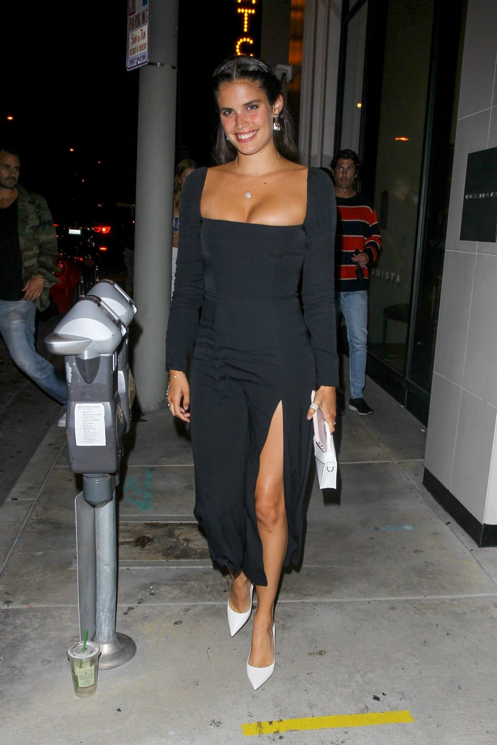 Sara Sampaio – Beautiful In Sexy Black Dress At Catch Restaurant In West Hollywood 0012