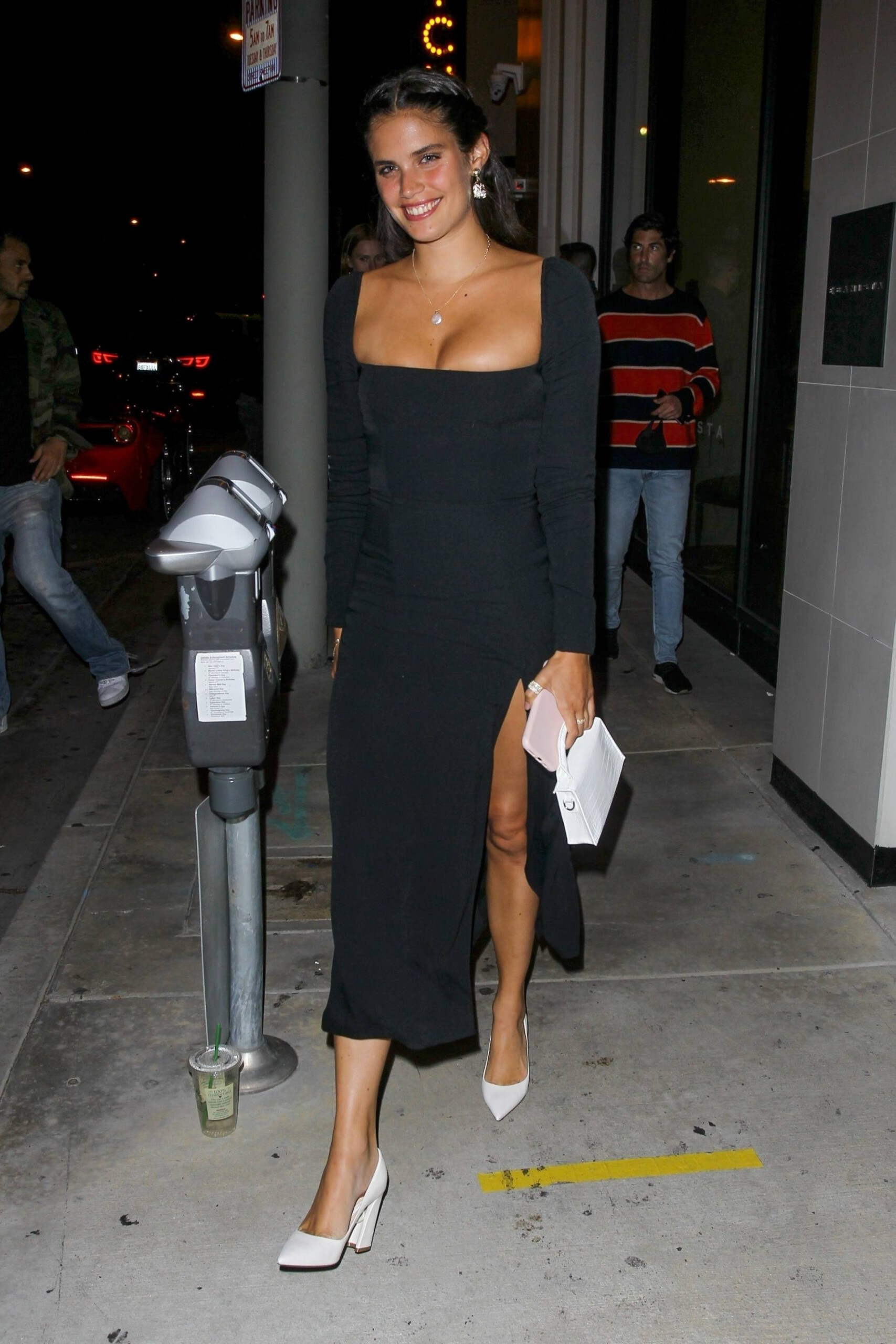 Sara Sampaio – Beautiful In Sexy Black Dress At Catch Restaurant In West Hollywood 0013