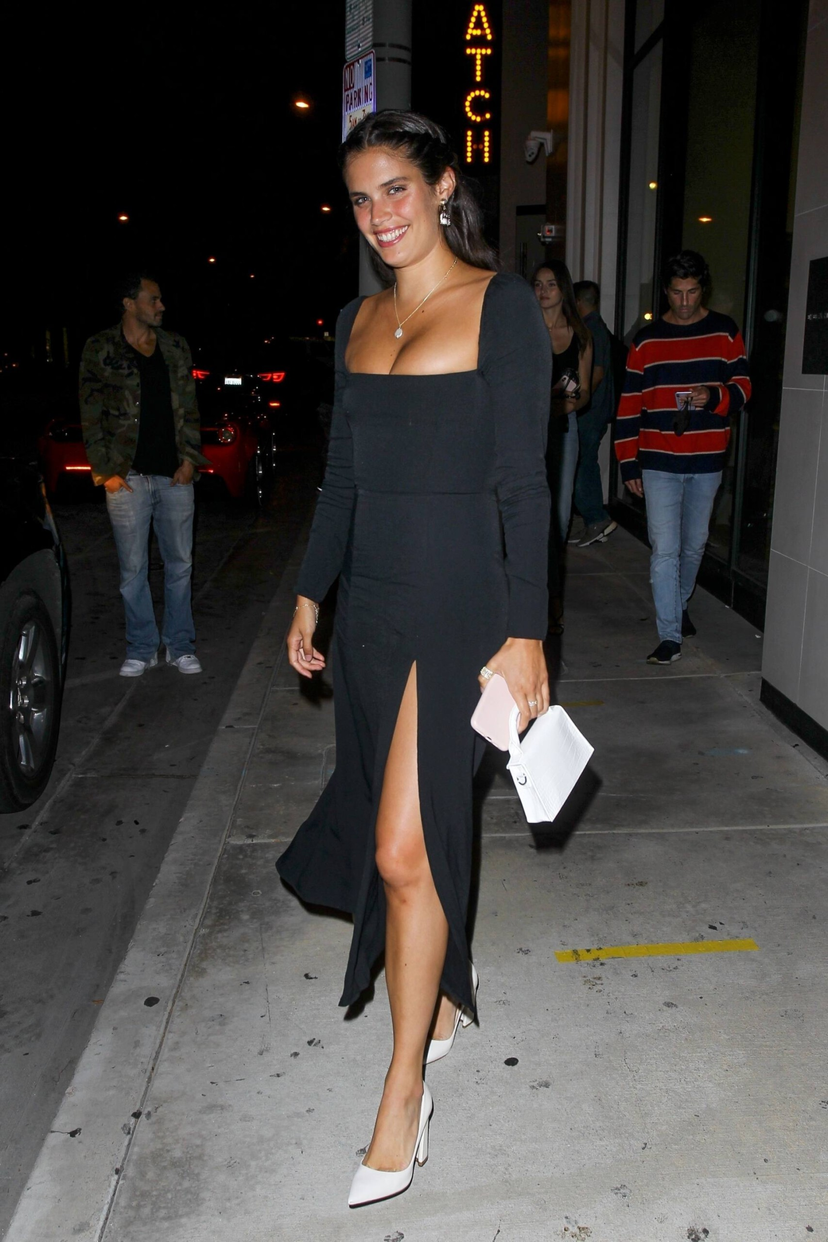 Sara Sampaio – Beautiful In Sexy Black Dress At Catch Restaurant In West Hollywood 0015