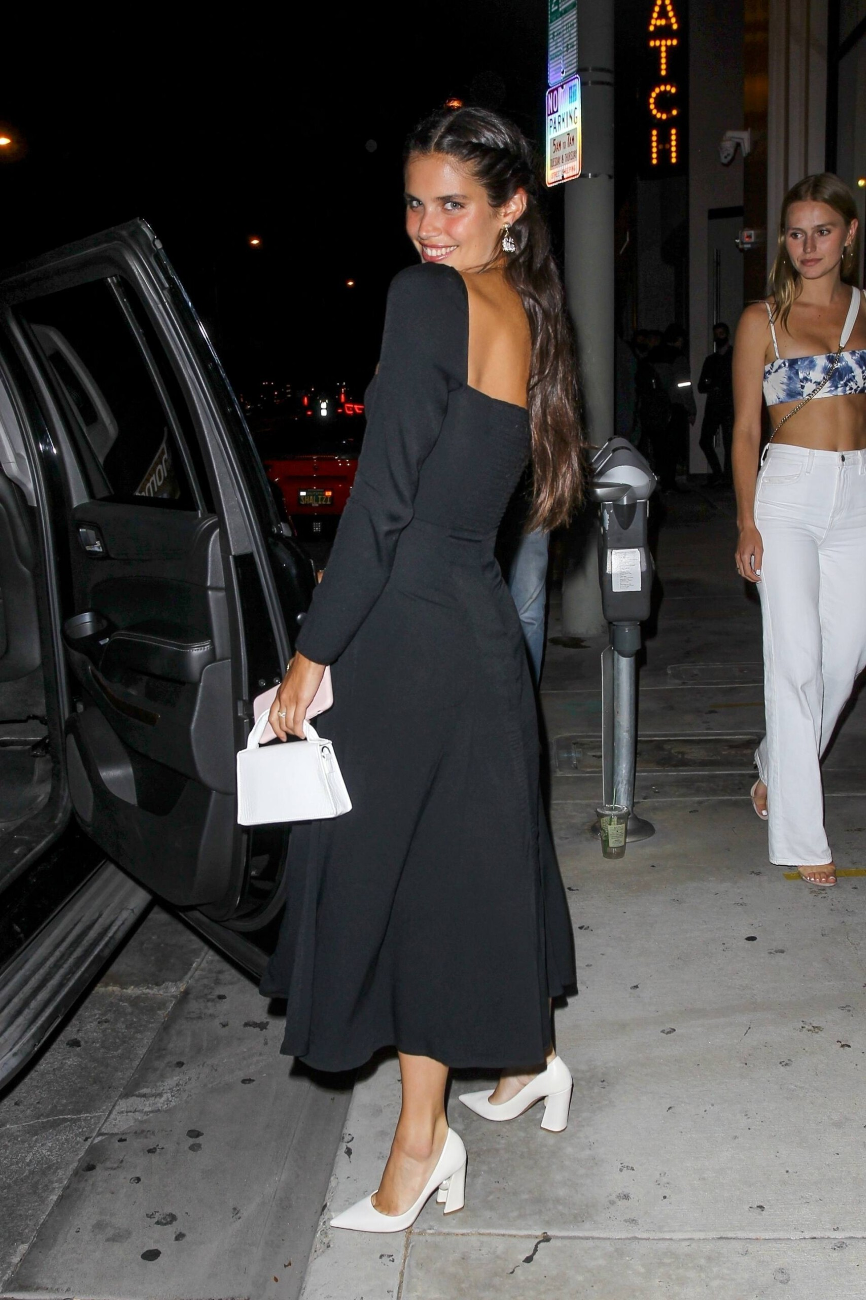 Sara Sampaio – Beautiful In Sexy Black Dress At Catch Restaurant In West Hollywood 0022