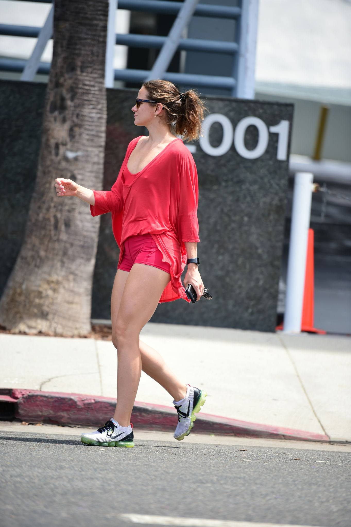 Shantel Vansanten – Sexy Legs In Tiny Red Shorts Out In Los Angeles 0003