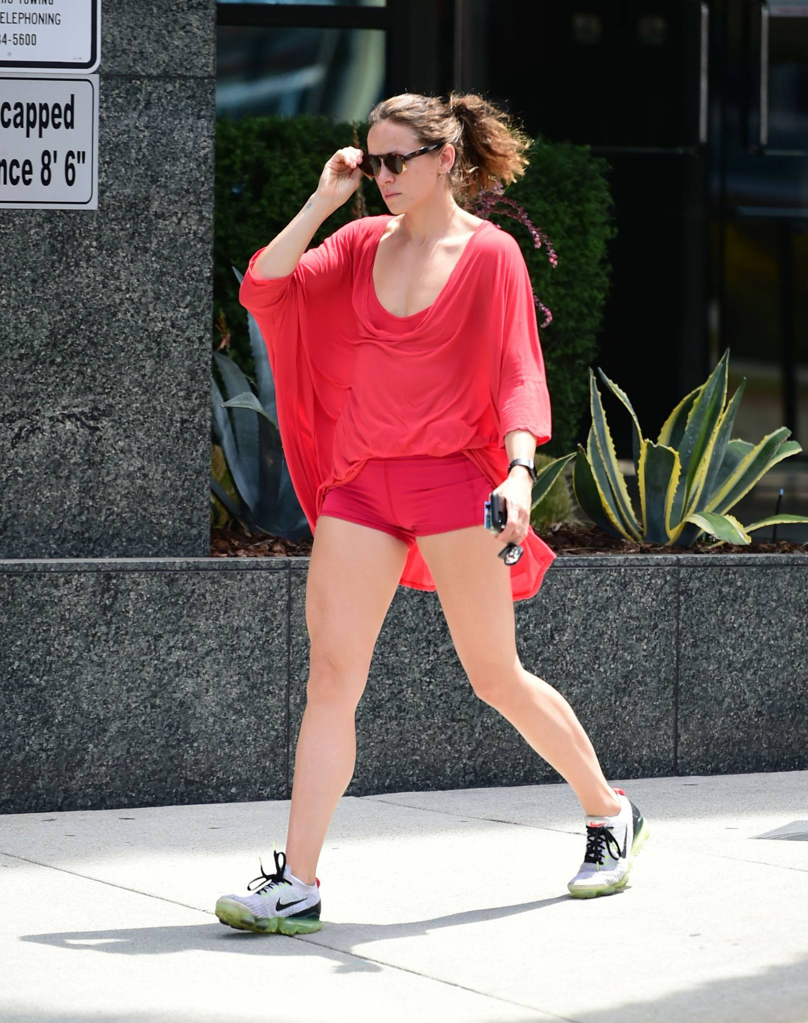 Shantel Vansanten – Sexy Legs In Tiny Red Shorts Out In Los Angeles 0008