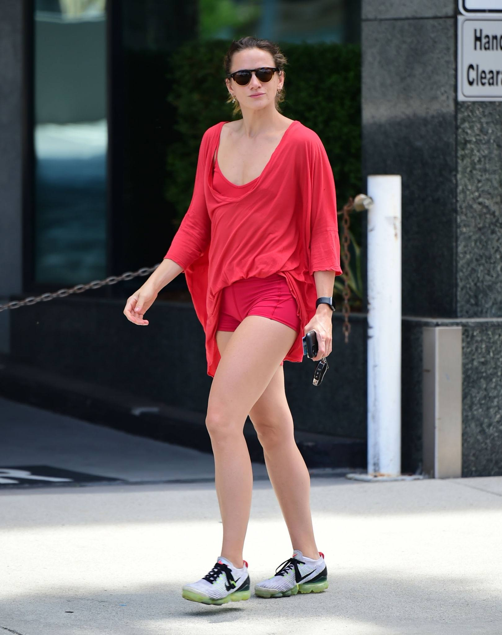Shantel Vansanten – Sexy Legs In Tiny Red Shorts Out In Los Angeles 0010