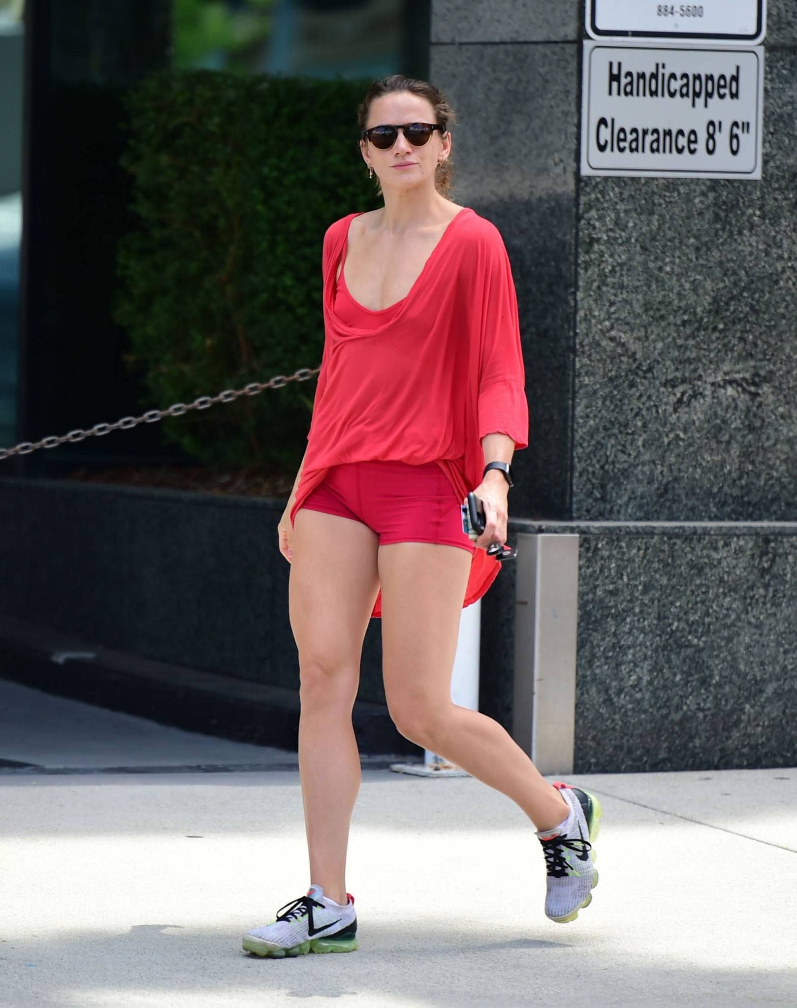 Shantel Vansanten – Sexy Legs In Tiny Red Shorts Out In Los Angeles 0017