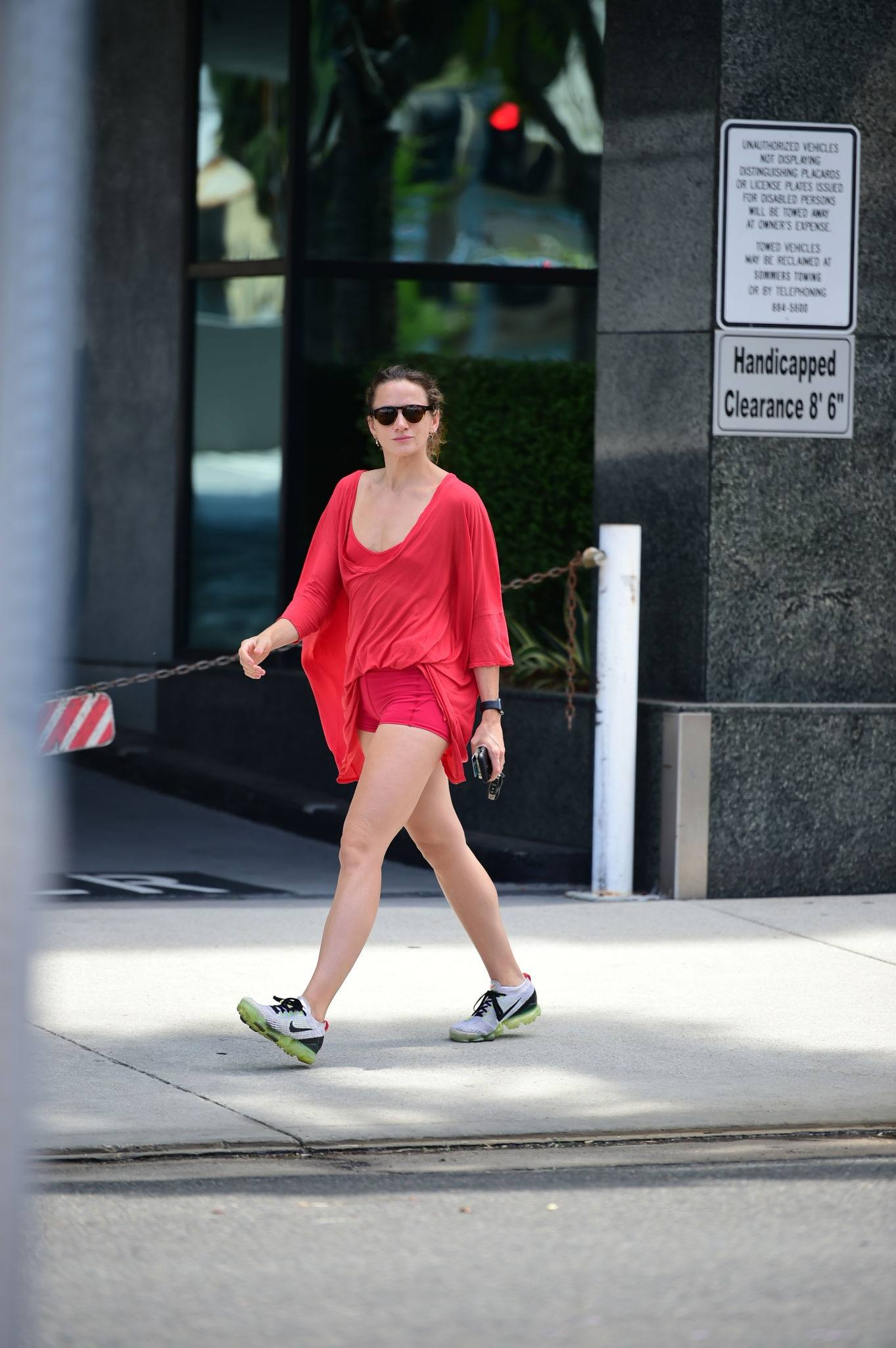 Shantel Vansanten – Sexy Legs In Tiny Red Shorts Out In Los Angeles 0018