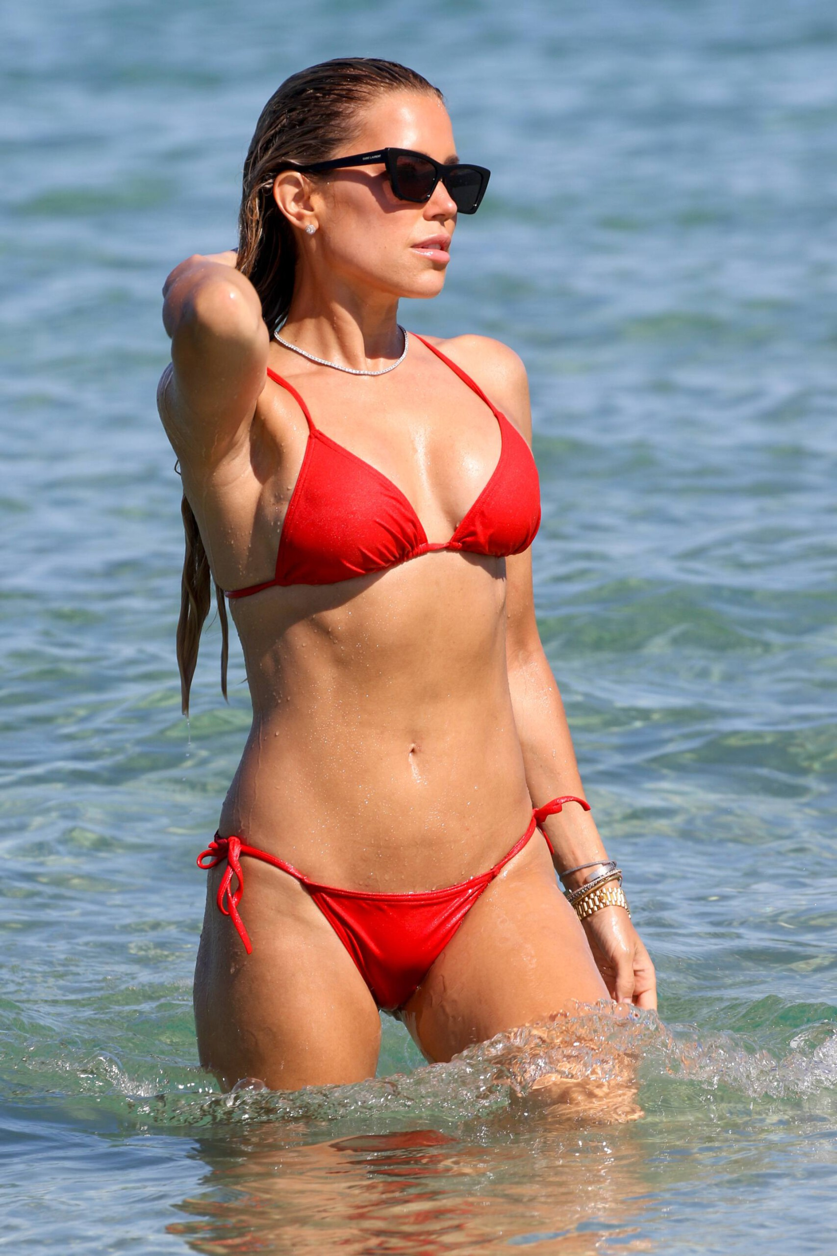 Sylvie Meis – Beautiful Body In Sexy Bikini On The Beach In Saint Tropez 0001